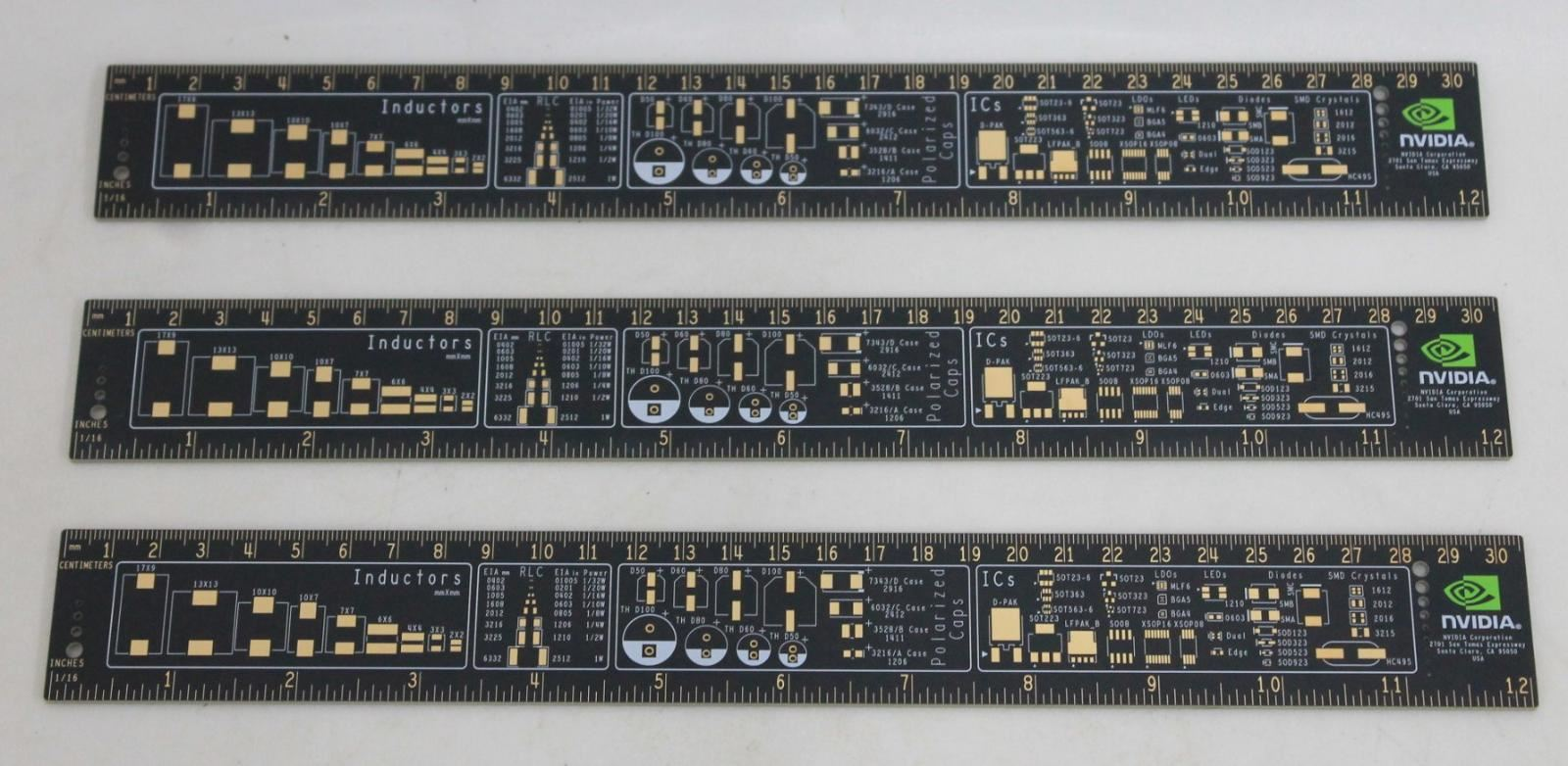 """Nvidia Diélectrique Fr-4 Circuit Board Companant 12"""" Engineering Ruler 3x Nouveau-afficher Le Titre D'origine Dzcaqn4m-07165658-832041606"""