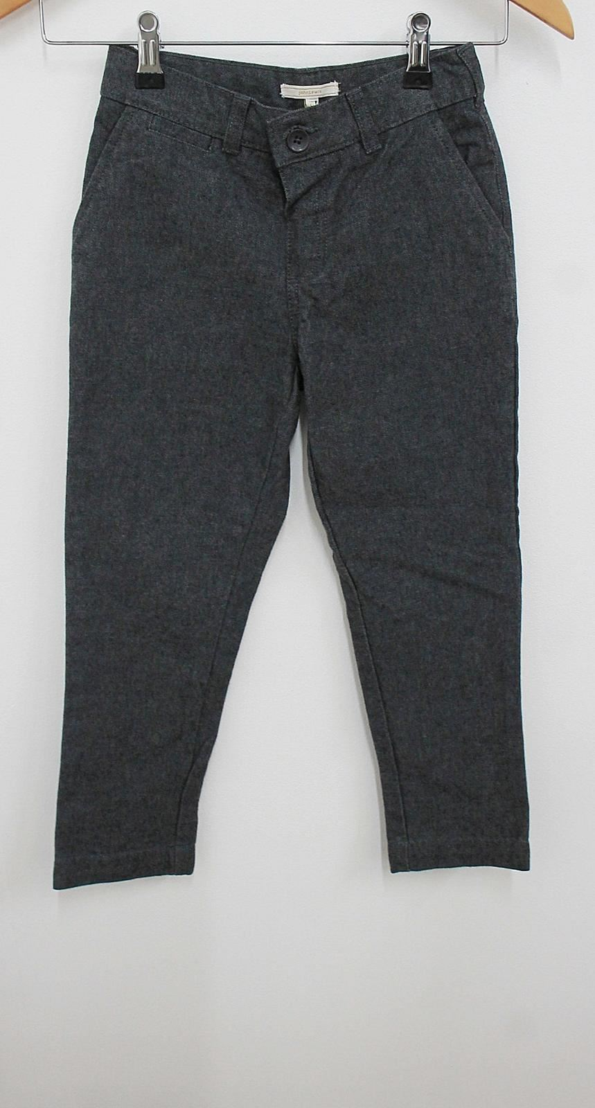 JOHN LEWIS Boy's Dark Grey Elastic Waist Skinny Fit Cotton Trousers 5 Yrs. NEW