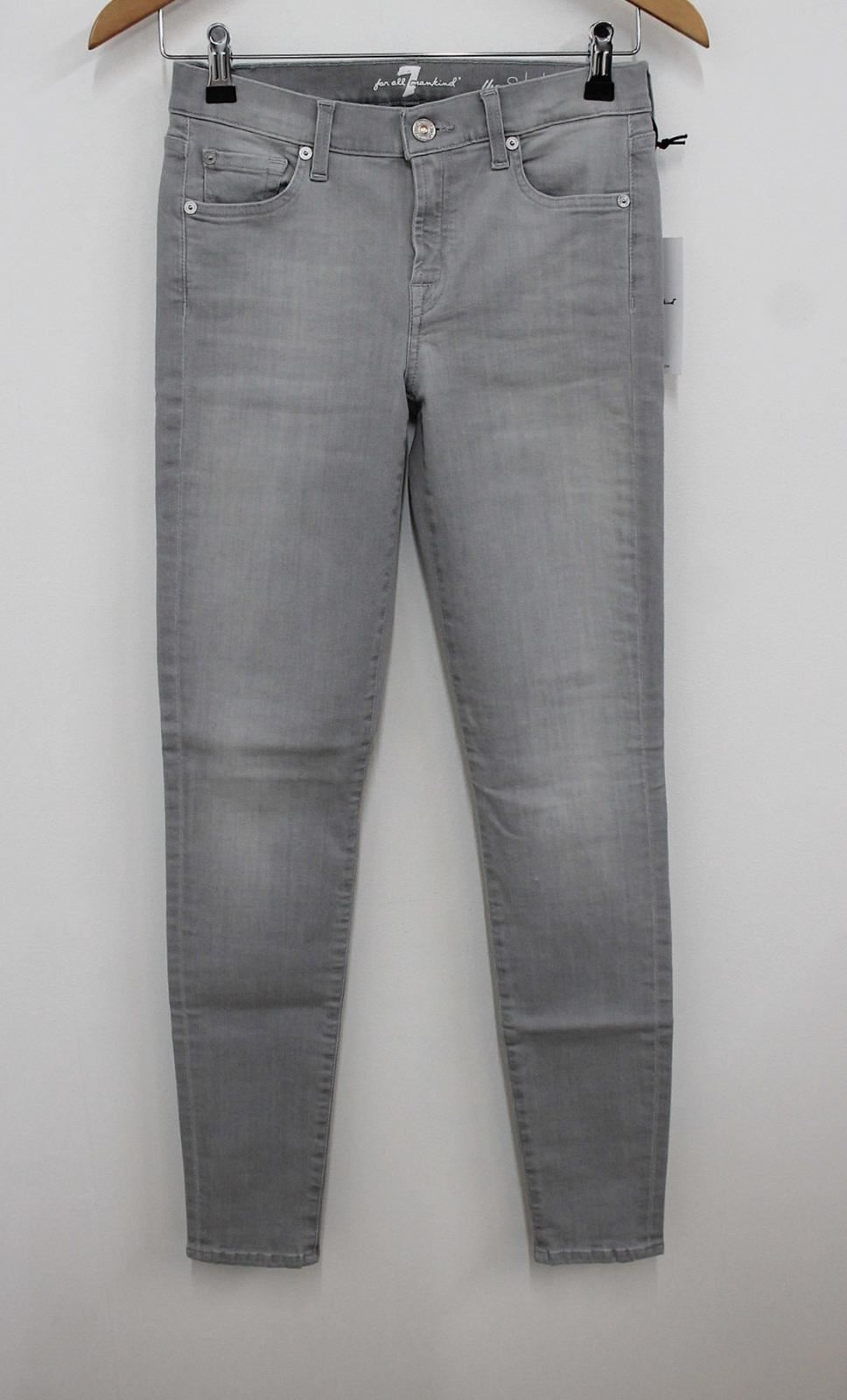 7 Pour All Mankind Femme Illusion Mirage Gris The Skinny Jeans W27 L30 Bnwt