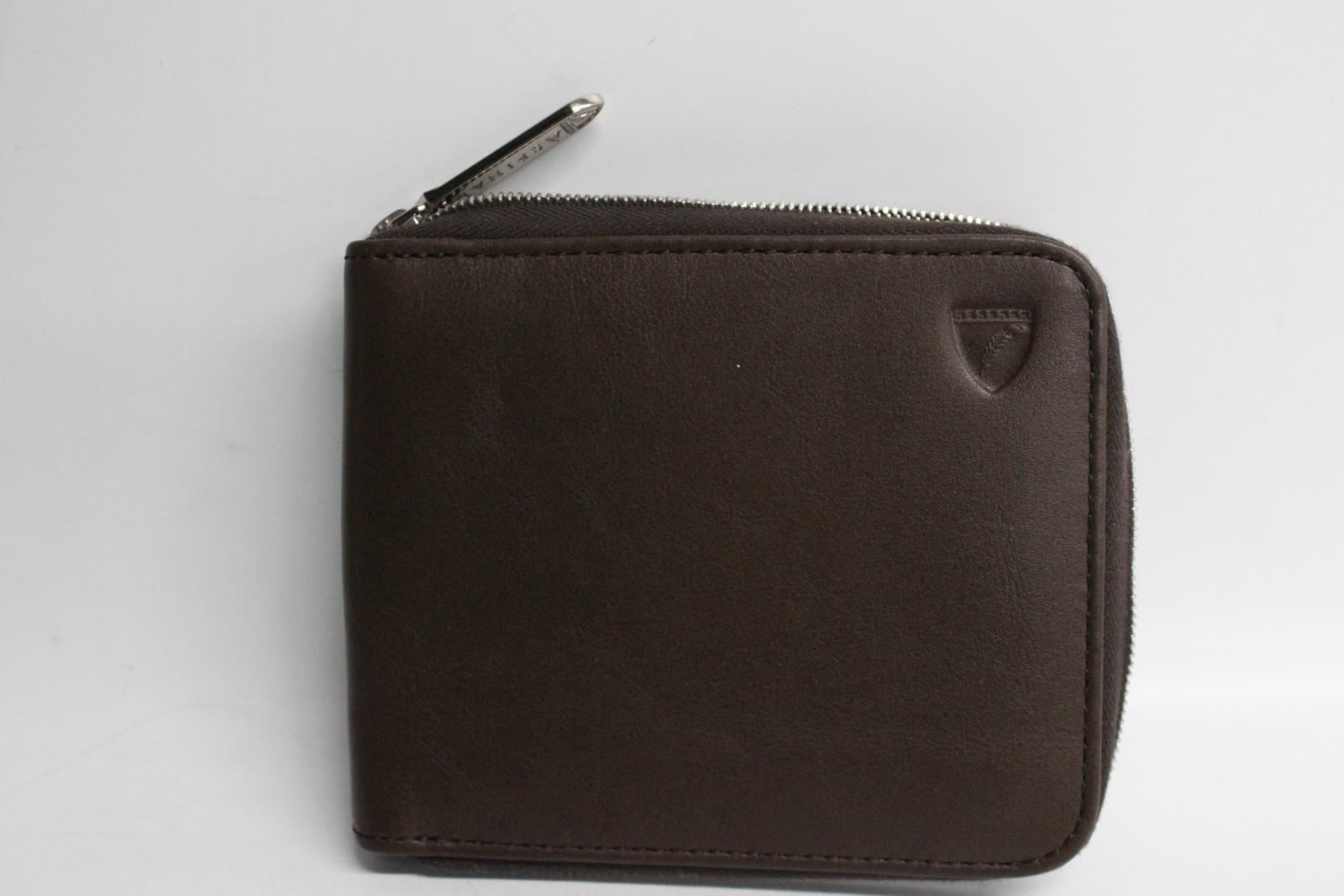 ASPINAL-OF-LONDON-Brown-Smooth-Leather-Mount-Street-5-Card-Zip-Around-Wallet