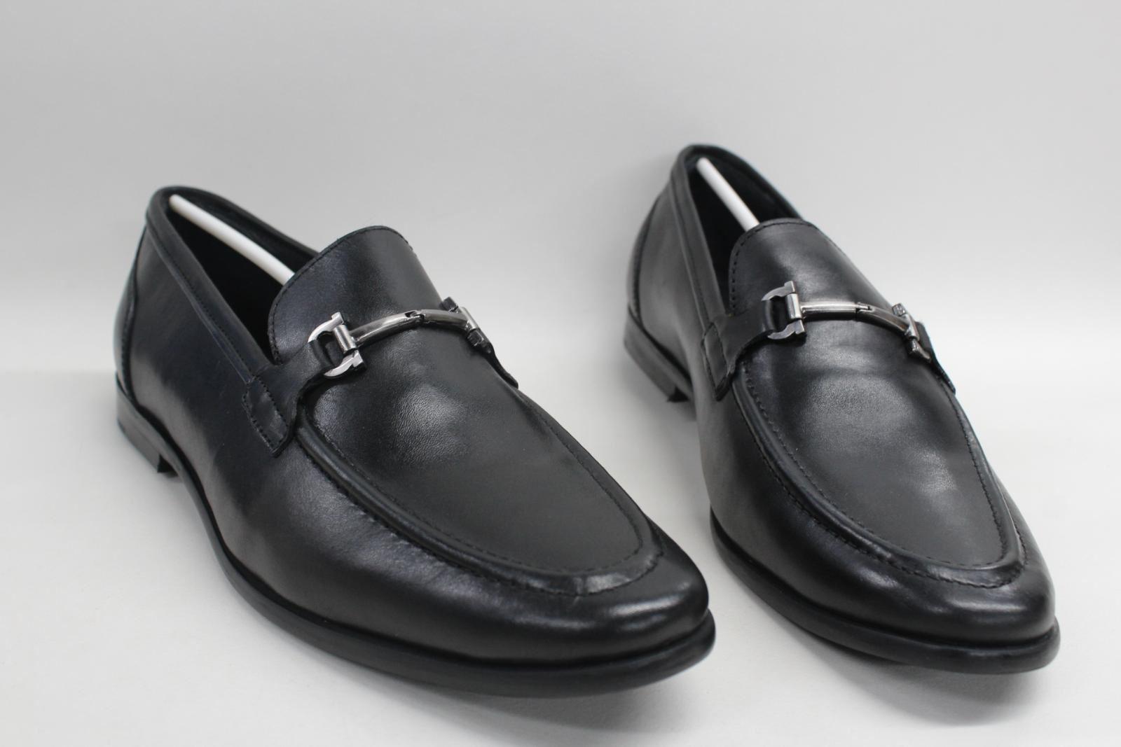 Goodwin-Smith-Herren-Milano-Leder-Pferd-Bit-Loafer-Slipper-Schuhe-uk9-eu43-NEU