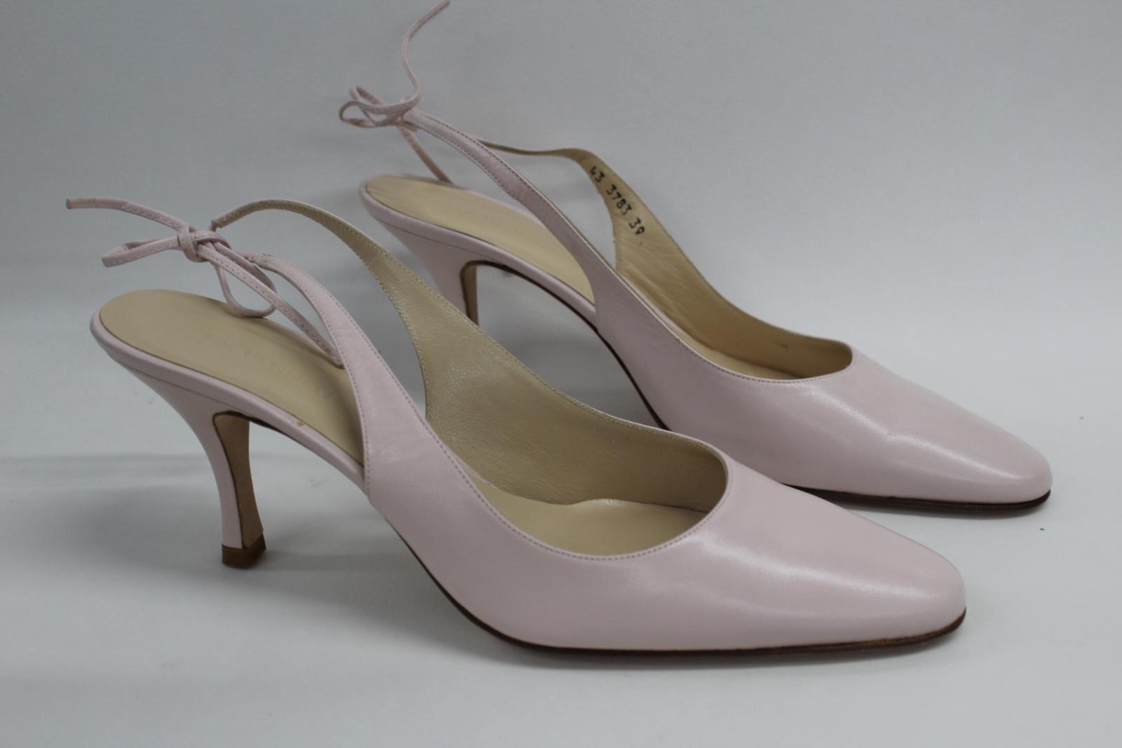 L-K-Bennett-London-en-cuir-avec-Lumiere-Rose-Slim-Chaussures-a-talon-UK6-EU39-nouveau