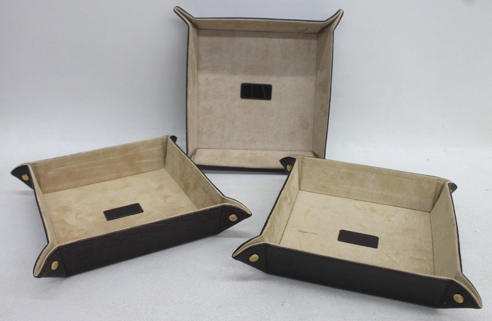 ASPINAL-OF-LONDON-Medium-Mahogany-Croc-Print-Leather-Tidy-Tray-Trinket-Holder-3x