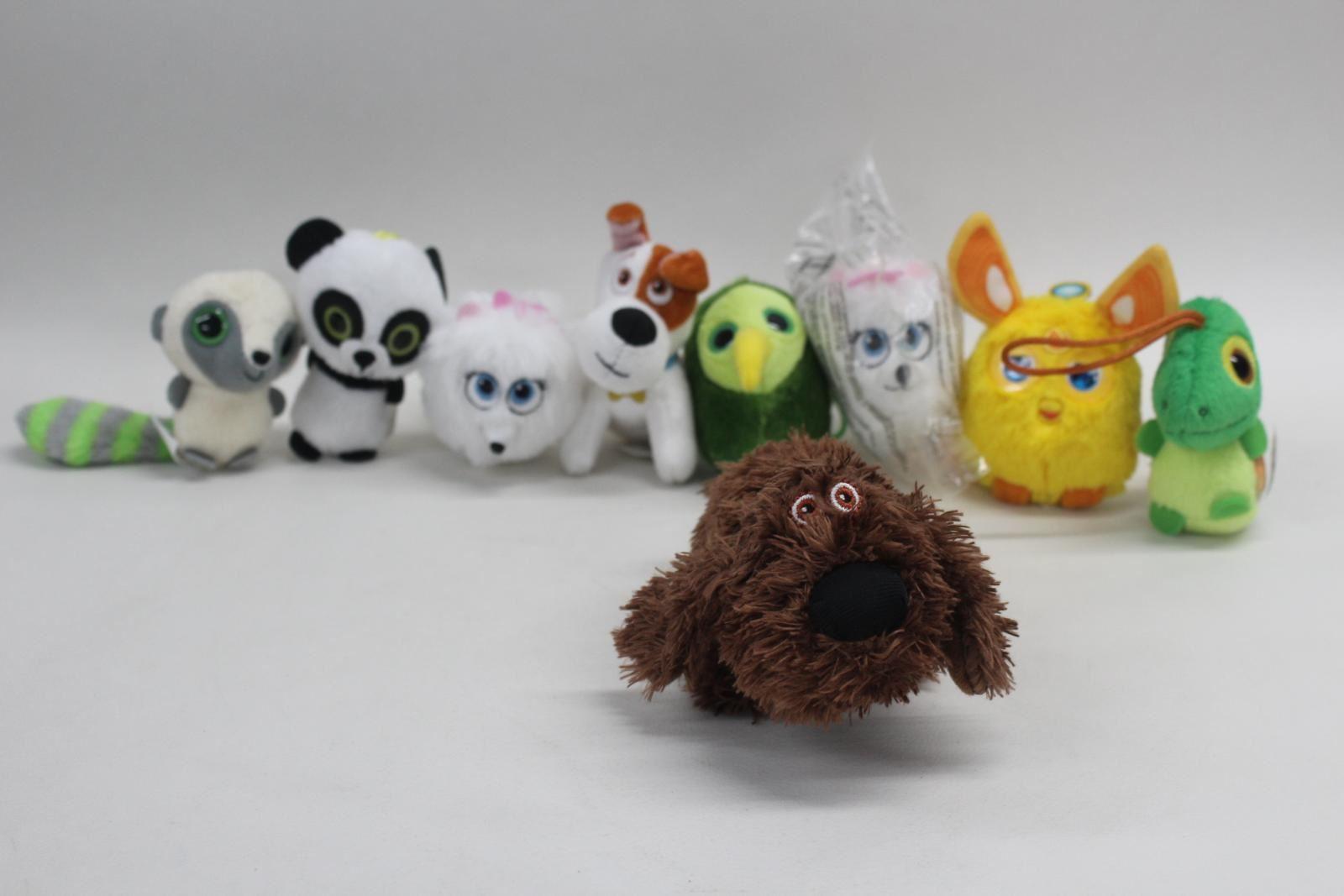 MCDONALDS-Various-Special-Movie-Miniature-Plushie-Toys-Dogs-Panda-Furby-JOB-LOT