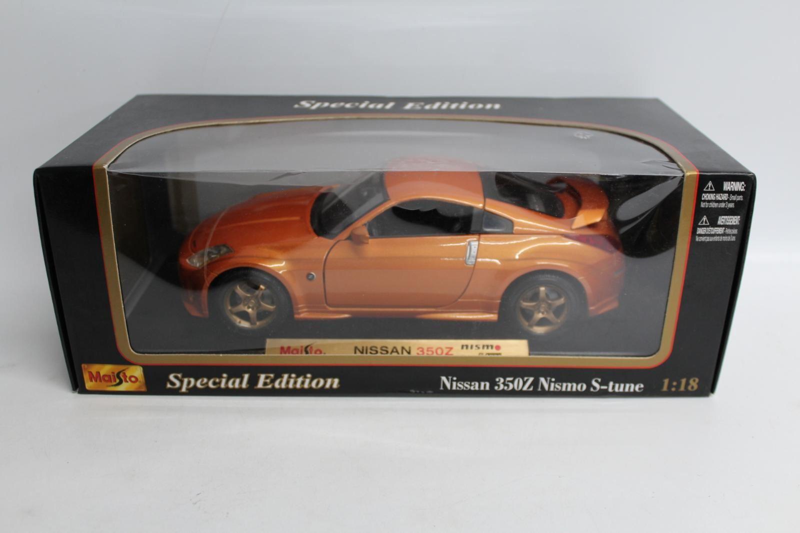 Maisto-31688-EDICIoN-Especial-Nissan-350z-Nismo-S-Tune-1-18-Escala-Modelo-de-Coche-Nuevo