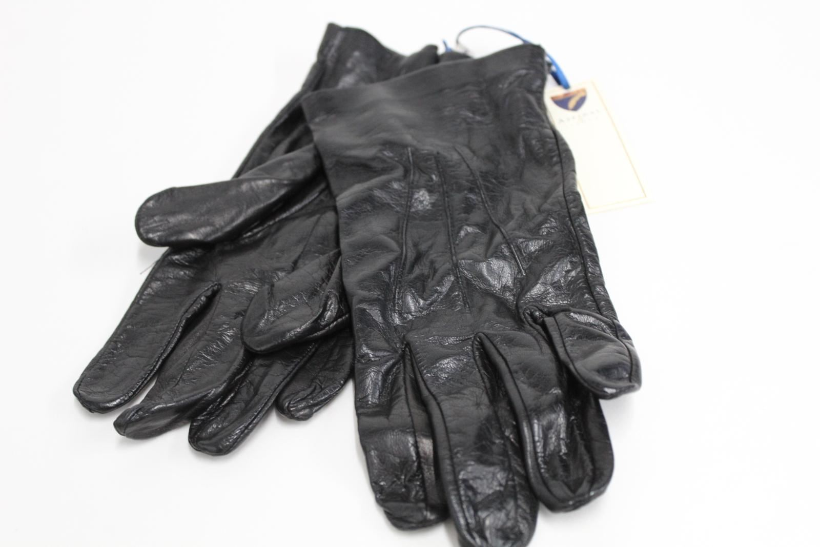 ASPINAL-OF-LONDON-Men-039-s-Black-Classic-Leather-Silk-Lined-Luxury-Gloves-10-BNWT