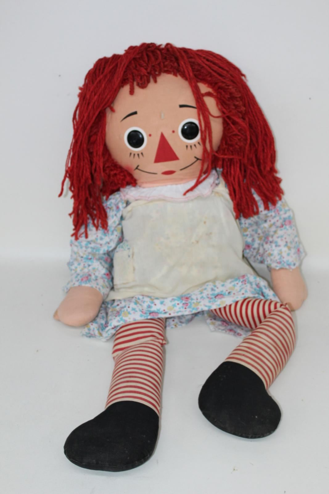 KNICKERBOCKER-Raggedy-Ann-Vintage-Collectible-Childrens-Life-Size-Toy-Doll