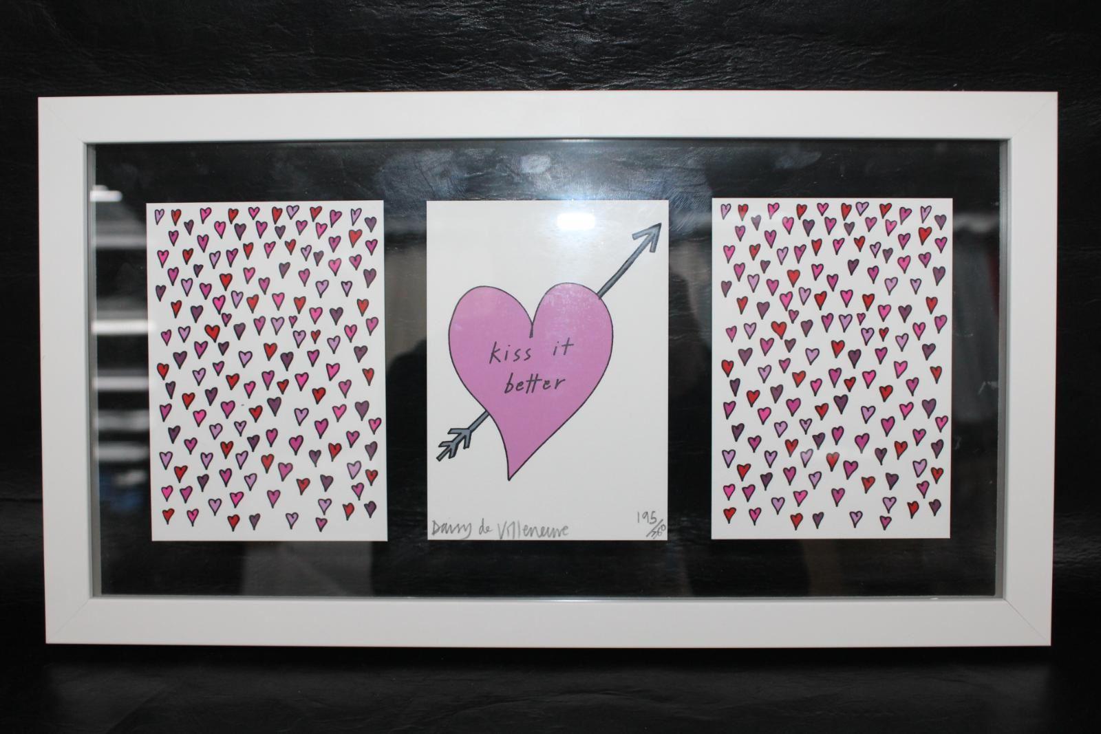 DAISY-DE-VILLENEUVE-Kiss-It-Better-Limited-Edition-Framed-Wall-Print-195-380