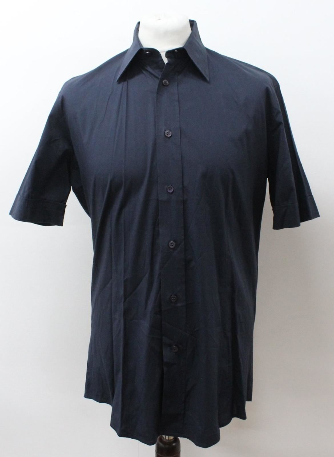 581bc26b BOSS Men's bluee Cotton Blend Short Sleeve Collared Casual Size L Shirt HUGO  oosgvg1821-Casual Shirts & Tops