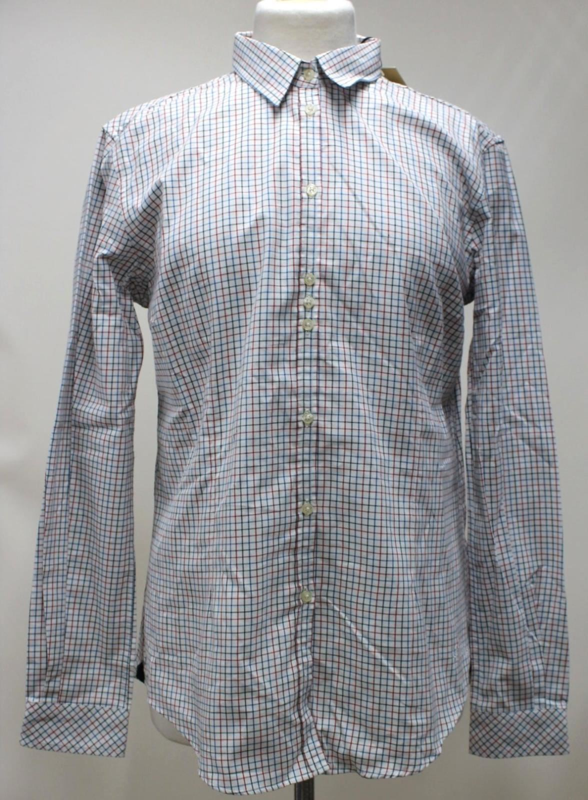 BNWT DUBARRY Ladies Elderflower rot & Blau Cotton Checked Collarot Shirt UK16