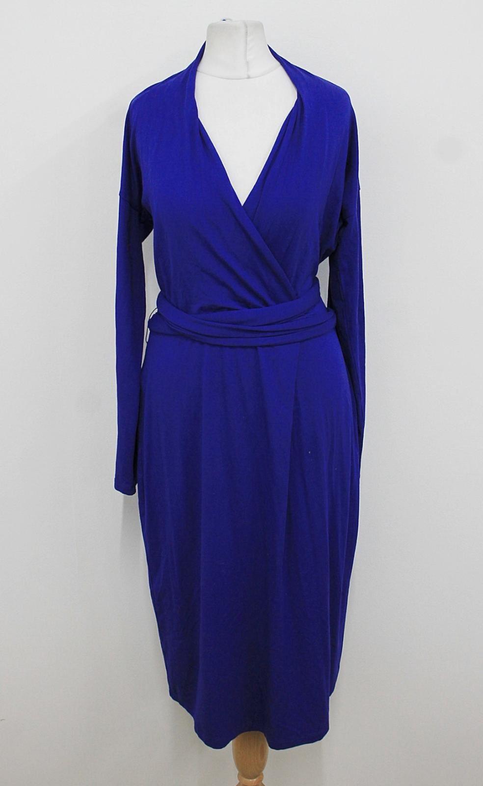 L-K-BENNETT-Ladies-Cobalt-Blue-Belted-Long-Sleeved-Stretchy-Dress-Size-UK12