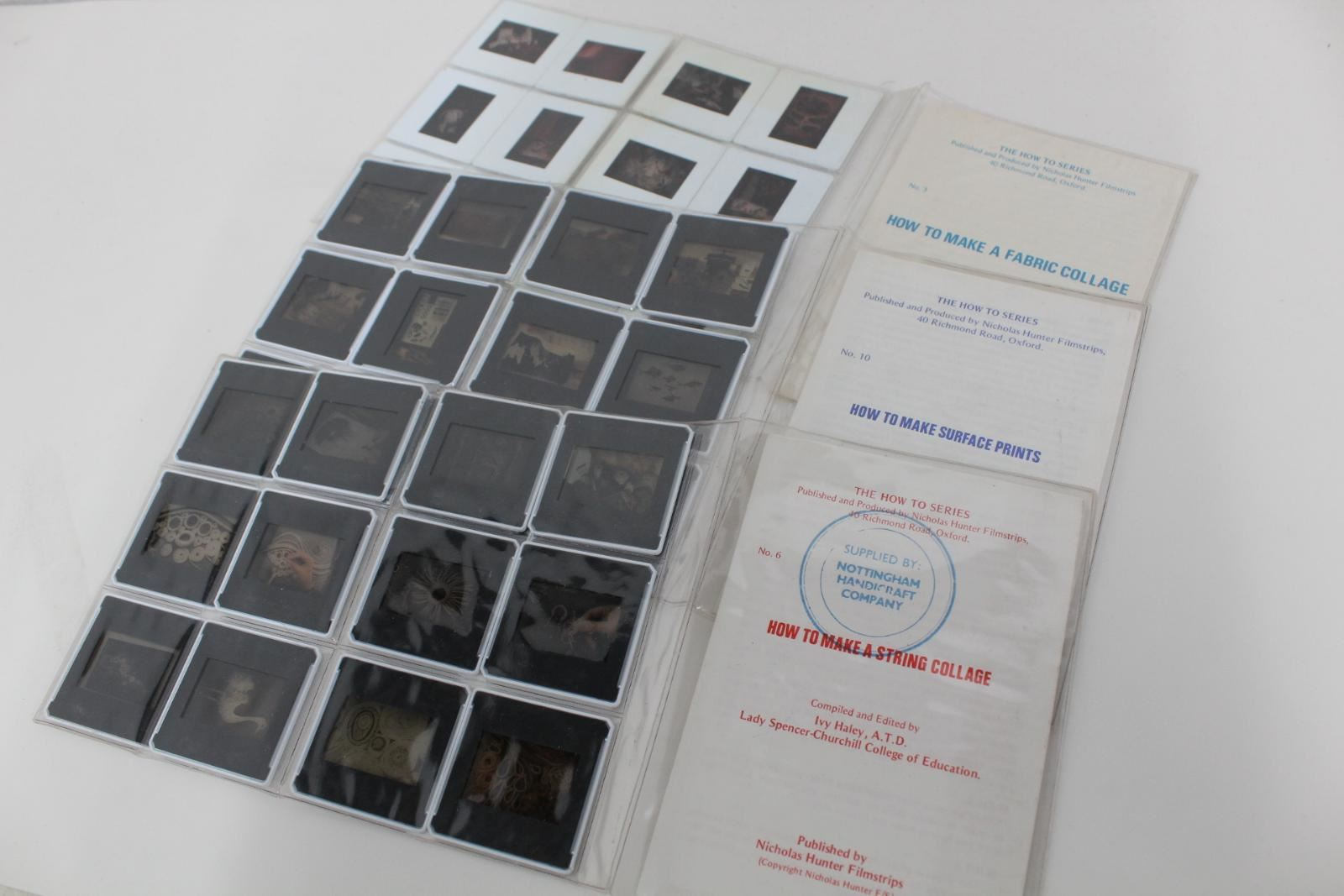 NICHOLAS-HUNTER-FILMSTRIPS-String-Fabric-Collage-Surface-Print-Negatives-Set