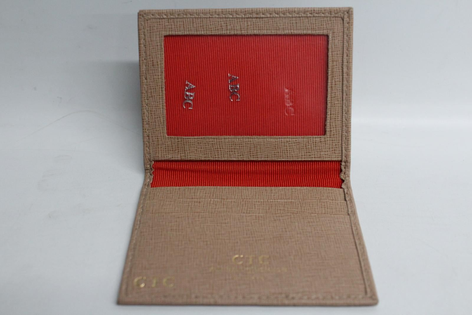 ASPINAL-OF-LONDON-Beige-Saffiano-Leather-Bifold-Card-Holder-amp-ID-Wallet-NEW