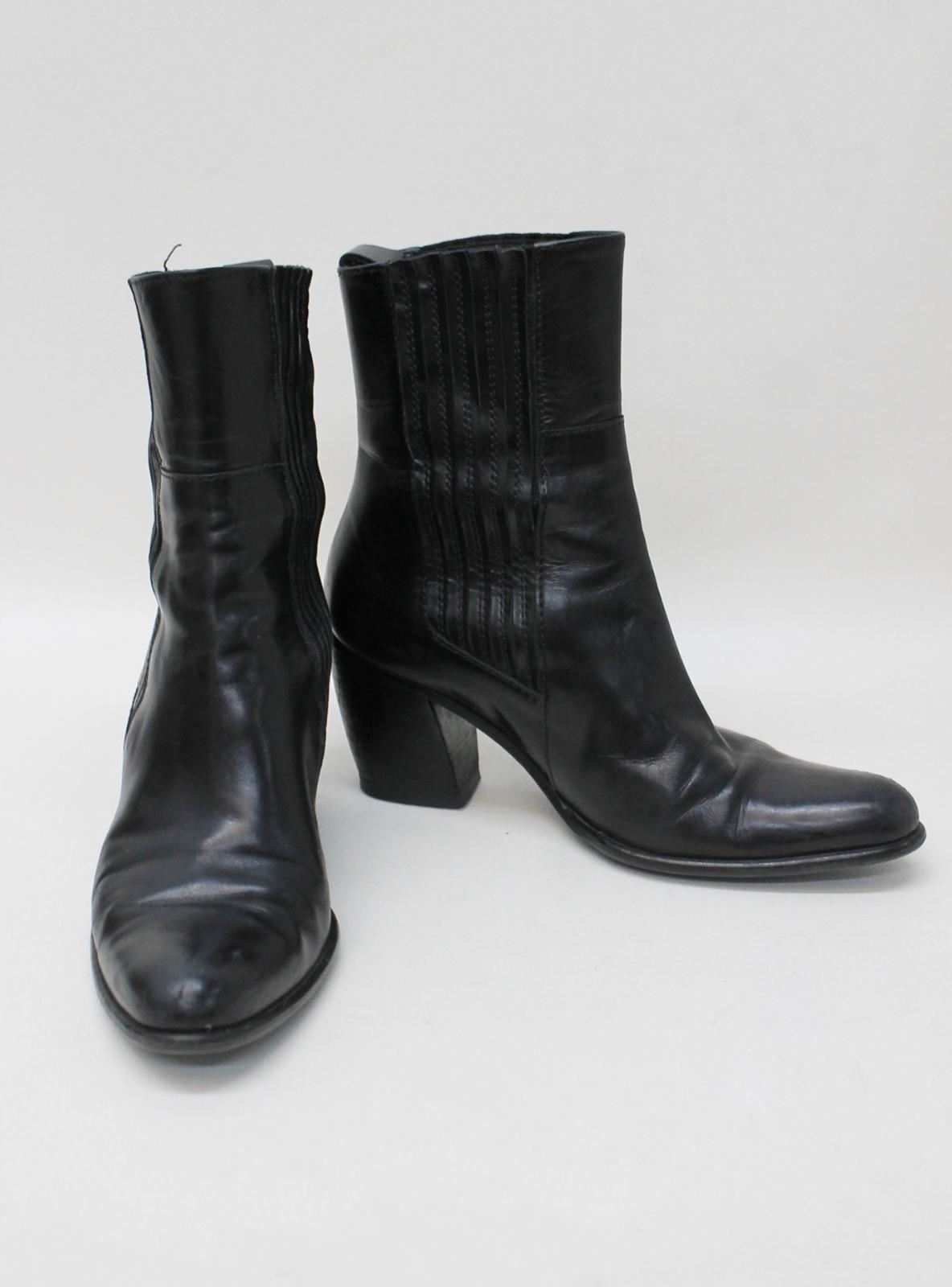 VENISE VENISE VENISE COLLECTION Ladies Black Leather Block Heeled Ankle Boots EU35.5 UK2.5 1c6ccf