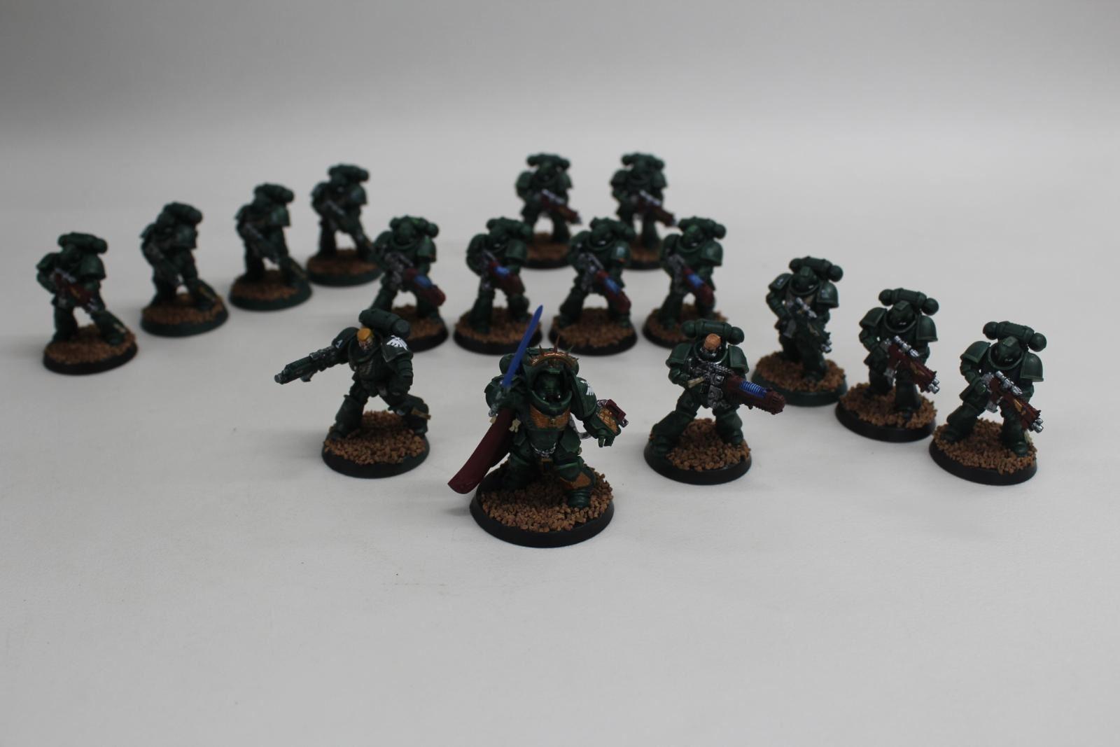 GAMES-WORKSHOP-Warhammer-40K-Dark-Angels-Primaris-Army-Painted-Space-Marines