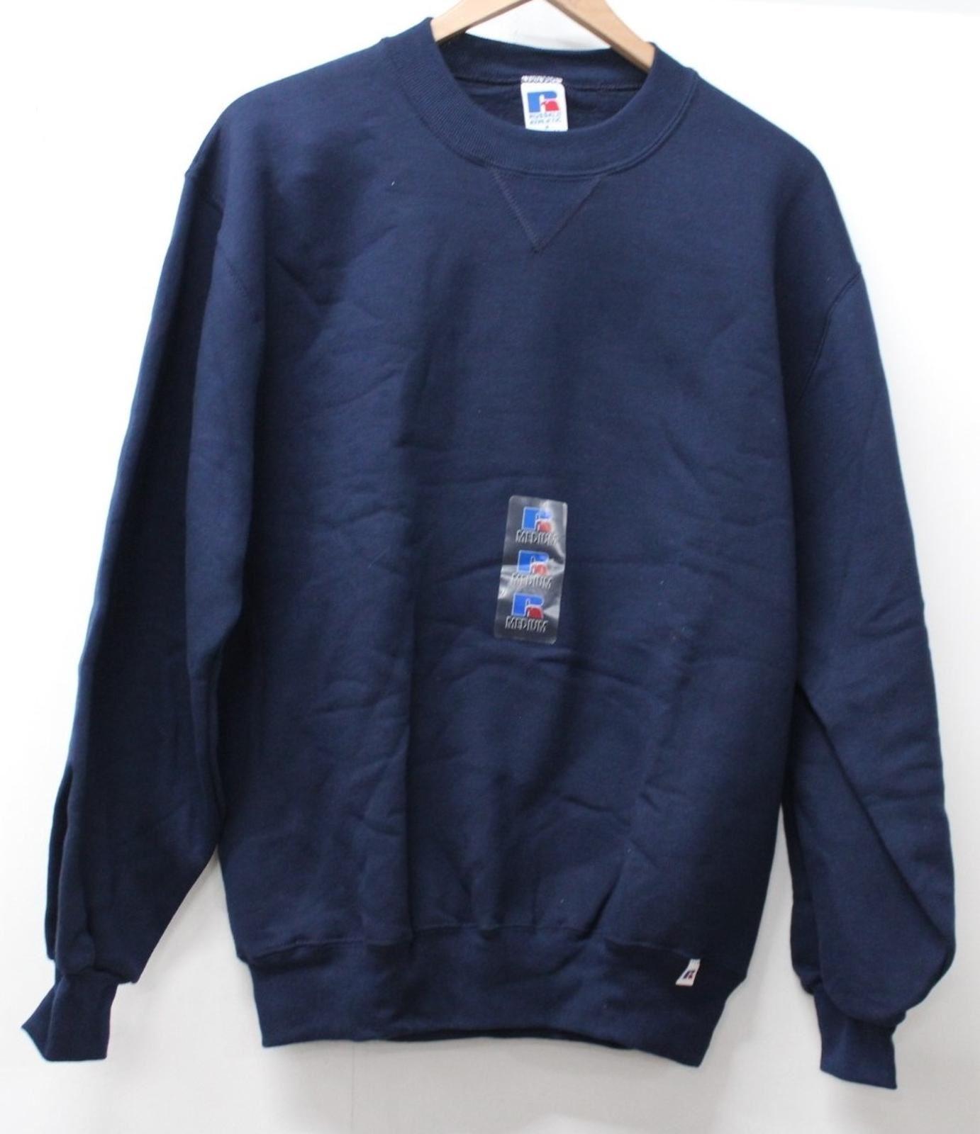 M Russell Mens scuro Blu Nuovo Athletic taglia girocollo felpa pullover nBaq8CwBrx