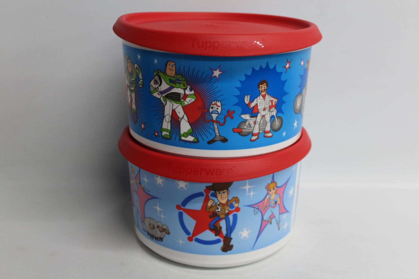 TUPPERWARE-Disney-Toy-Story-4-Movie-Buzz-amp-Woody-Snack-Set-Canisters-1-4L-NEW