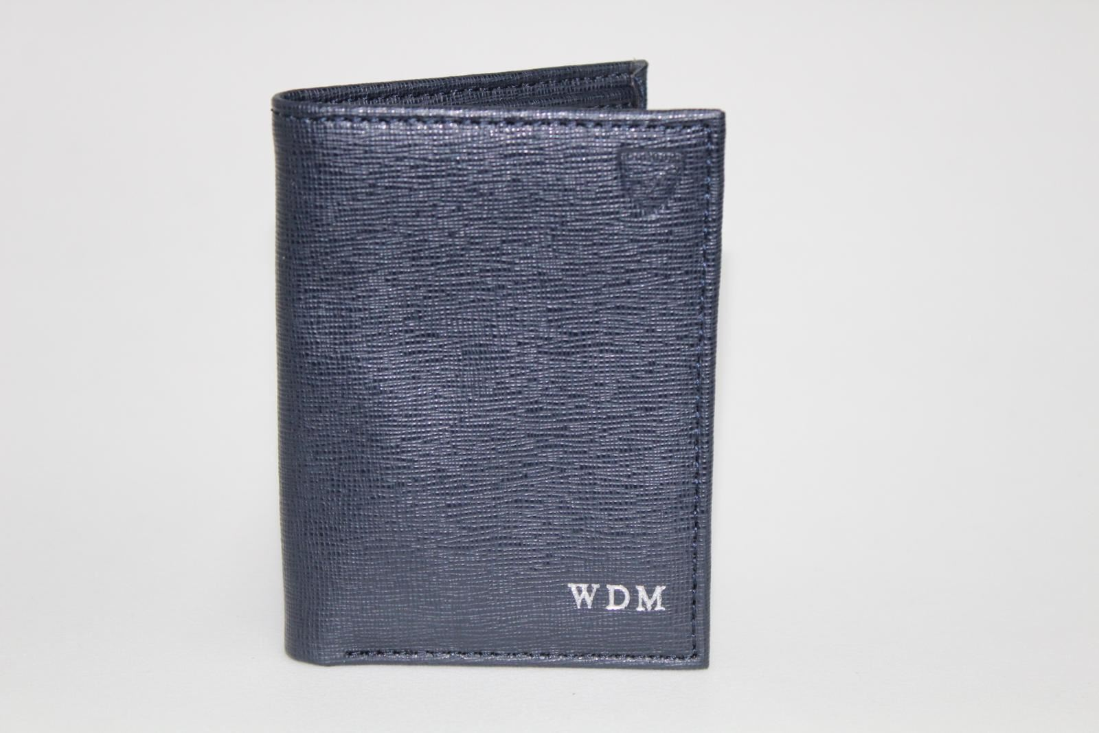 ASPINAL-OF-LONDON-Mens-Blue-Saffiano-Leather-Slot-Note-WDM-Initials-Wallet-NEW