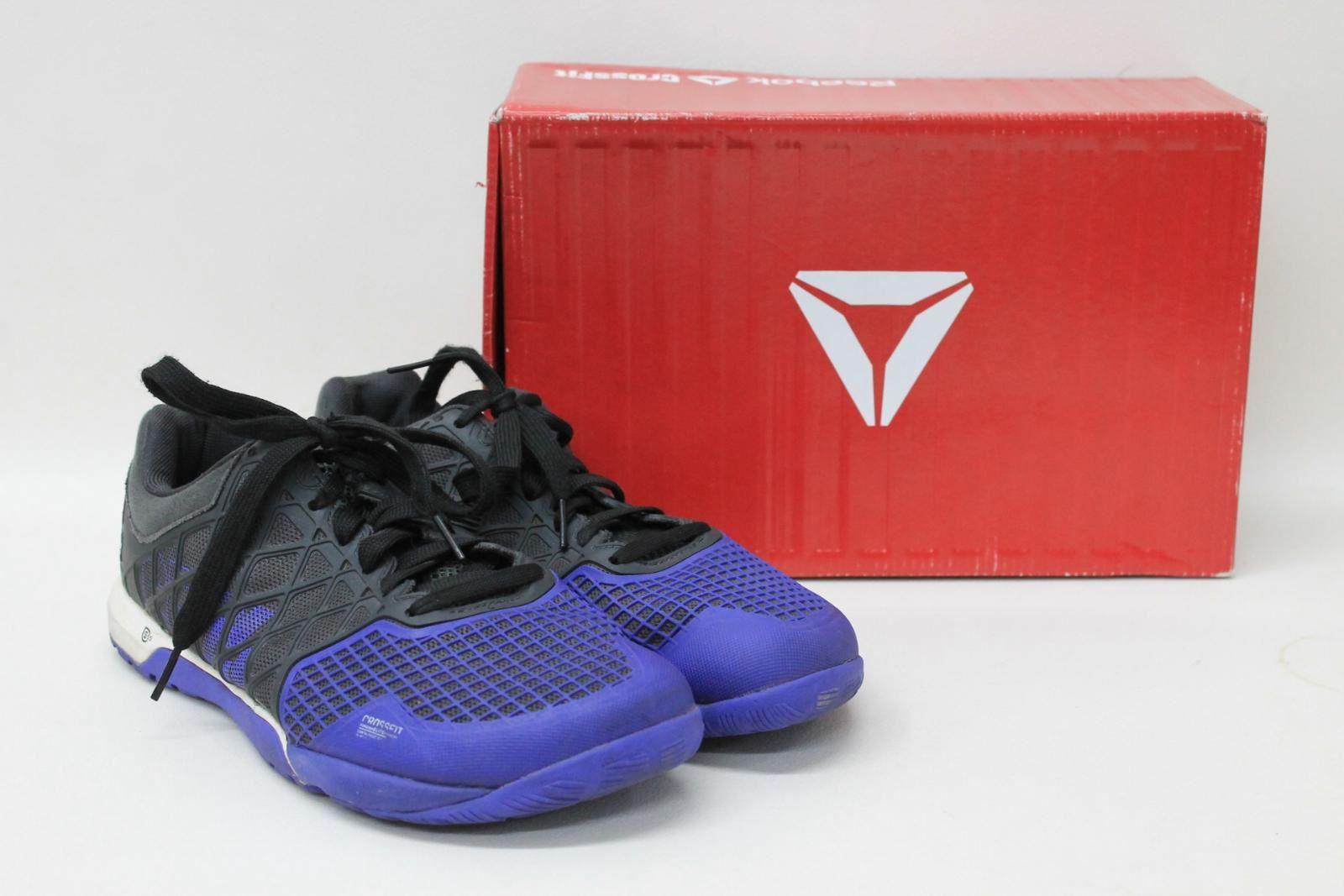 REEBOK Men s CrossFit Nano 3.0 Black Purple Training Trainers Shoes ... d81359804