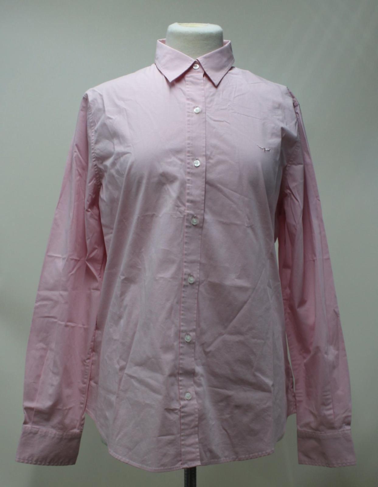BNWT R. M. Williams donna rosa cotone con colletto Nicole Camicia Casual Taglia UK18