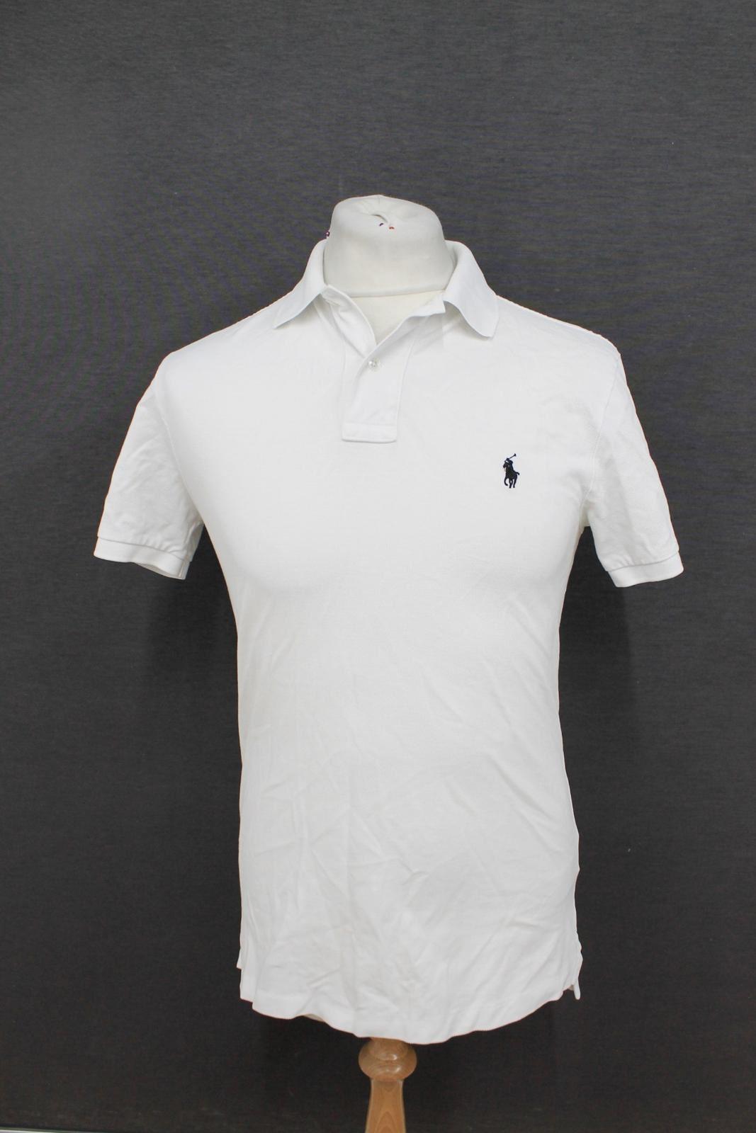 POLO by RALPH LAUREN uomo bianco a maniche corte Stretch slim fit polo shirt M