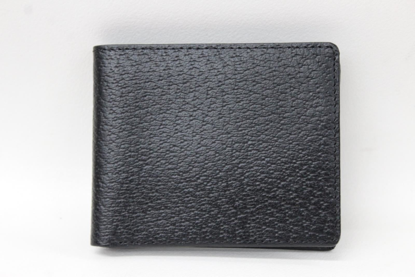 KIKI-JAMES-Men-039-s-Black-Leather-Red-Lining-Bifold-Credit-Card-amp-Note-Wallet-NEW