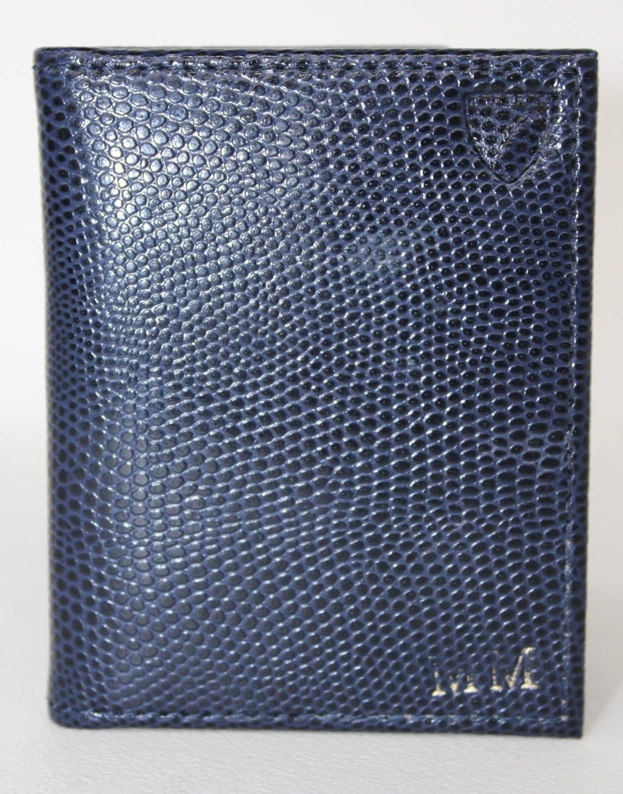 ASPINAL-OF-LONDON-Calf-Navy-Blue-Lizard-amp-Black-Suede-ID-amp-Travel-Card-Case