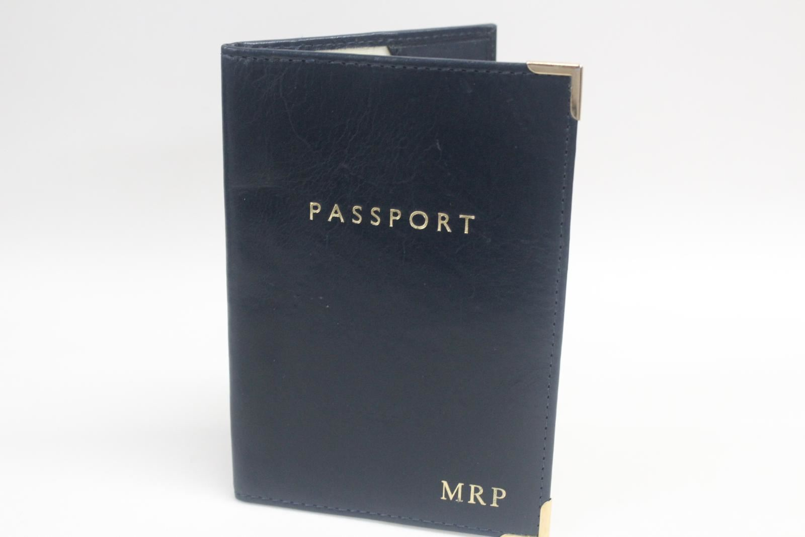 ASPINAL-OF-LONDON-Navy-Blue-White-Interior-Leather-Passport-Holder-Initials-MRP