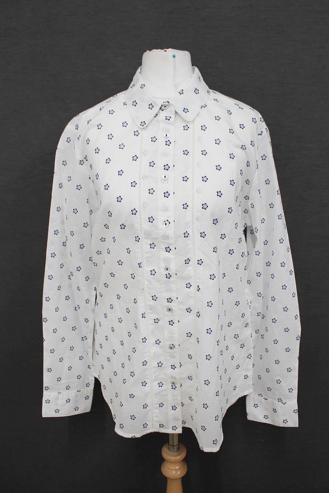 BNWT-CREW-CLOTHING-CO-Ladies-White-Blue-Floral-Print-Long-Sleeved-Shirt-UK12