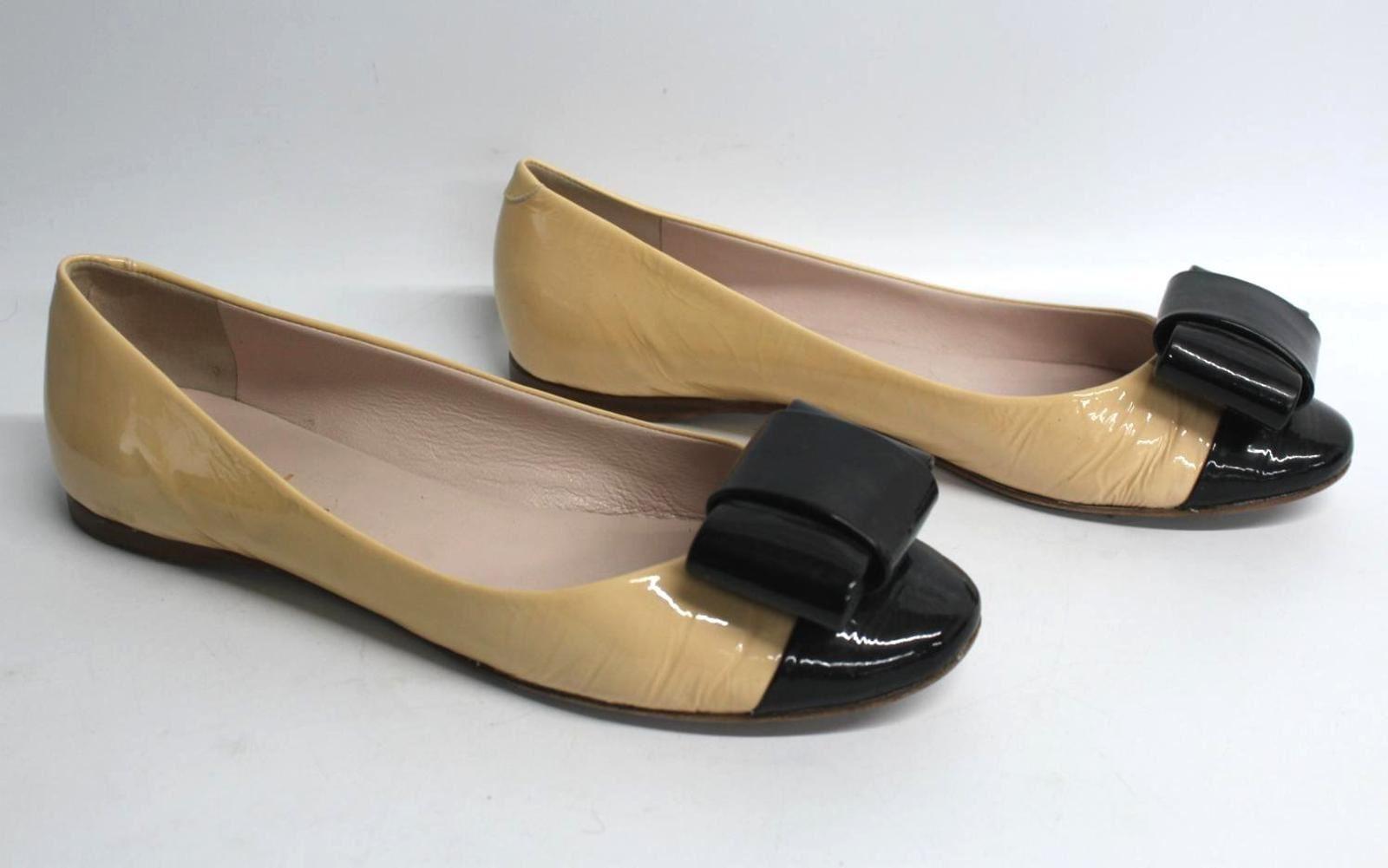 OLIVIERS-LOUNGE-Ladies-Beige-Leather-Round-Toe-Ballerinas-Flat-Shoes-UK6-EU39
