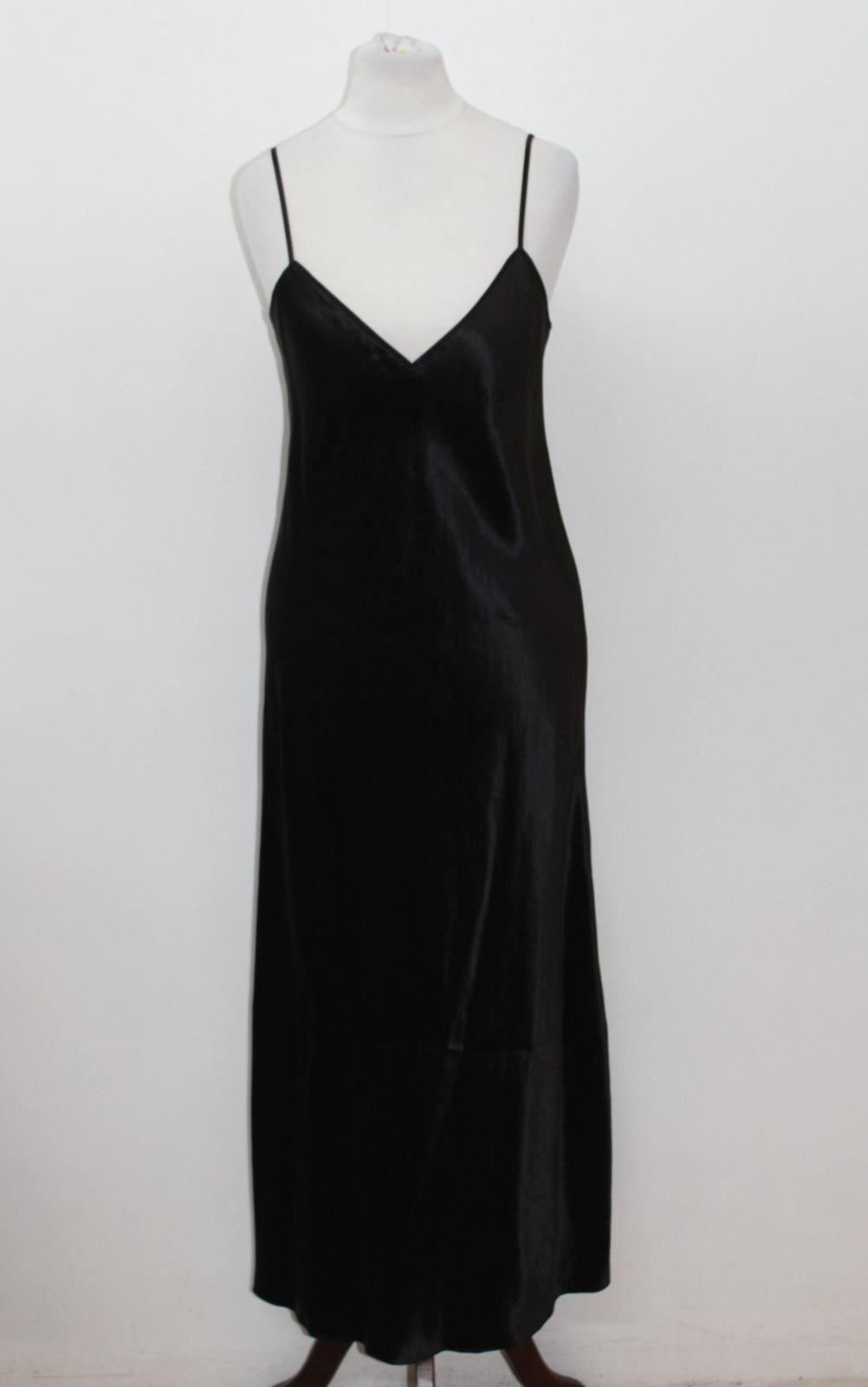 VINCE. Ladies Plain schwarz Sleeveless V Neckline Shift Style Dress Größe XS