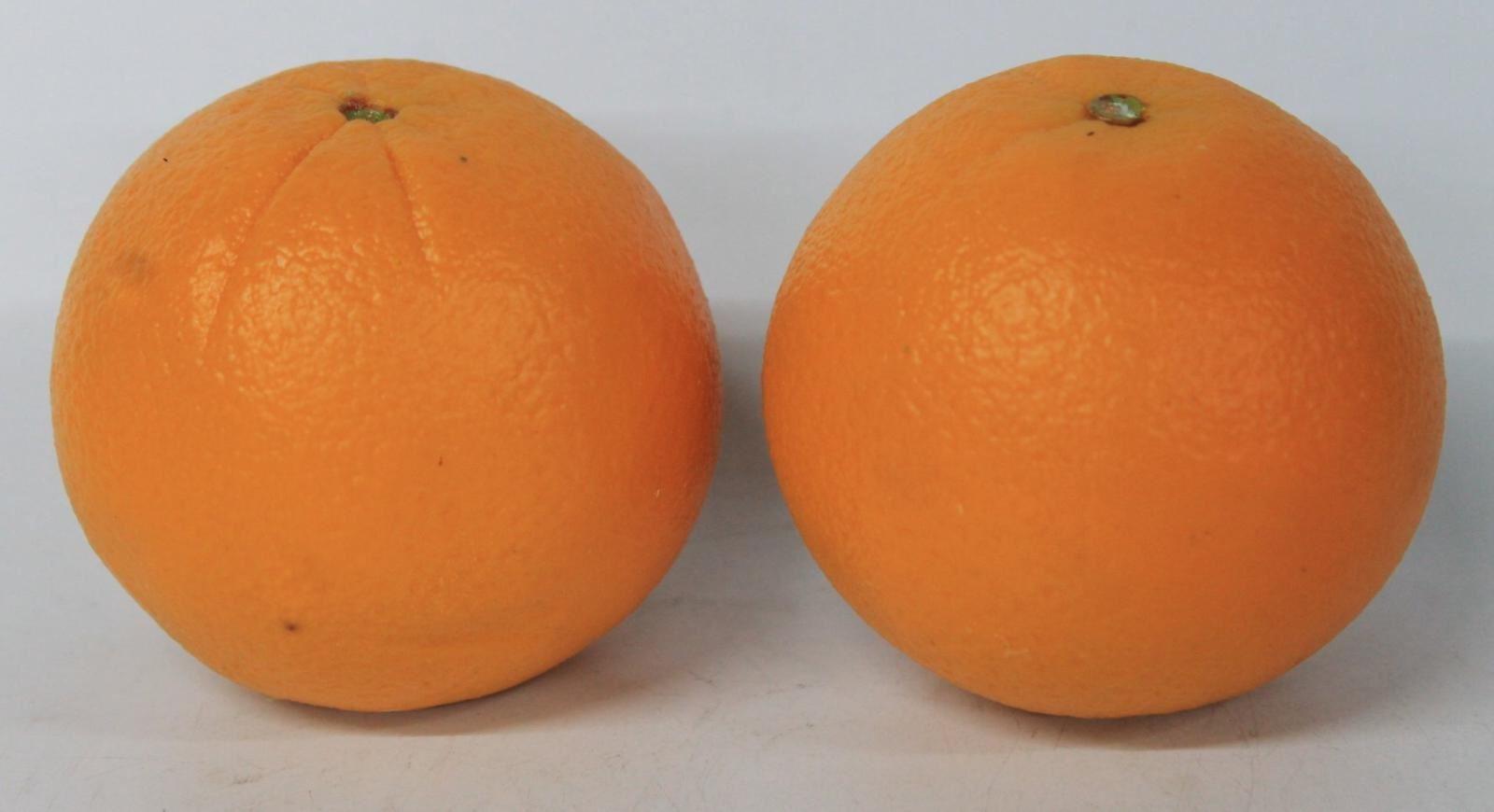 100% Waar Pair Of Lifelike Artificial Plastic Orange Fruit Decorative Food Display Props