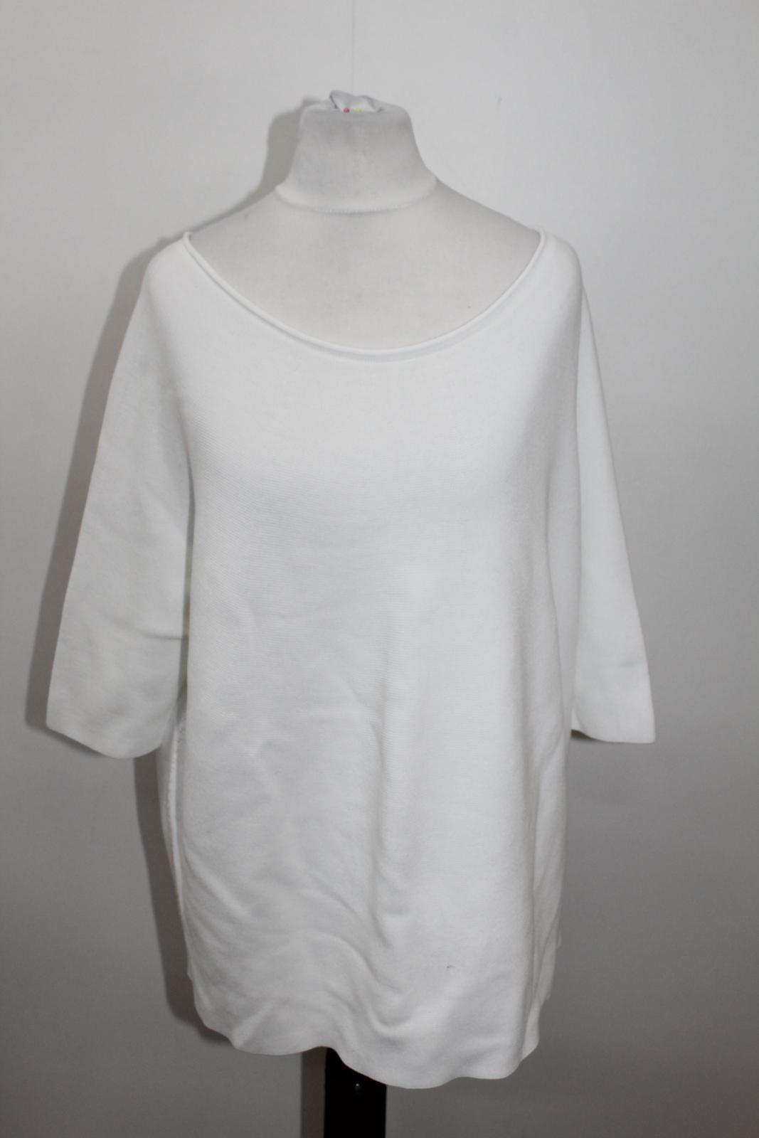 Size Neckline Scoop Textured Sleeve Wolford Ladies White p 3 4 Jumper S nAUwCZqzOC