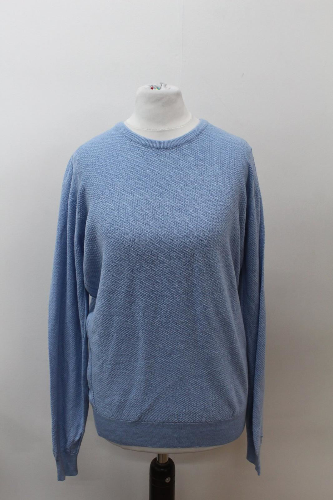 Wool Sleeve Sweater Ladies Long Knit John Size L Blue Smedley Crew Jumper Neck rBtQdhxsC