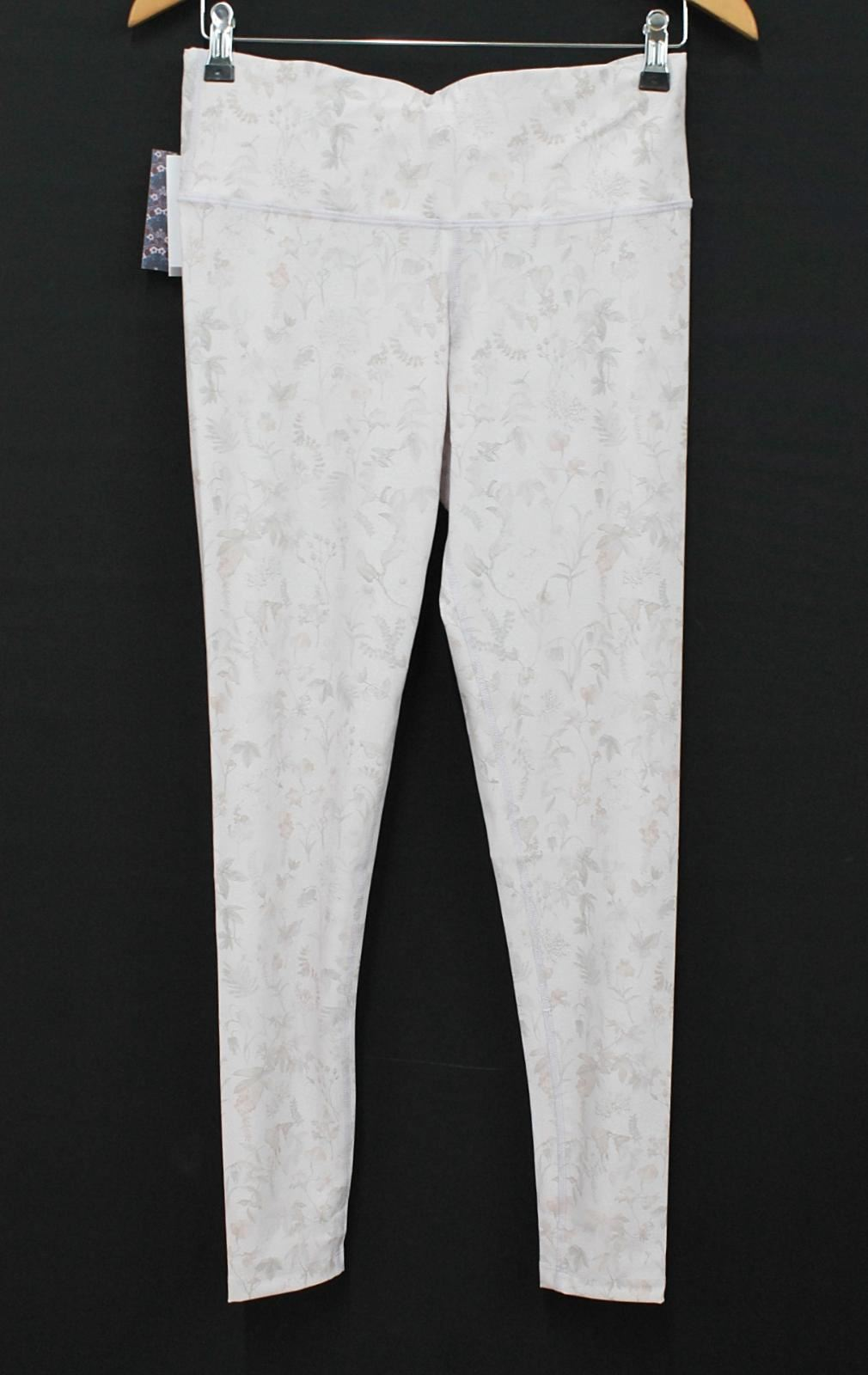 HARVEY & MILLS Ladies Secret Garden Pink & Nude Leggings Size M UK10-12 NEW