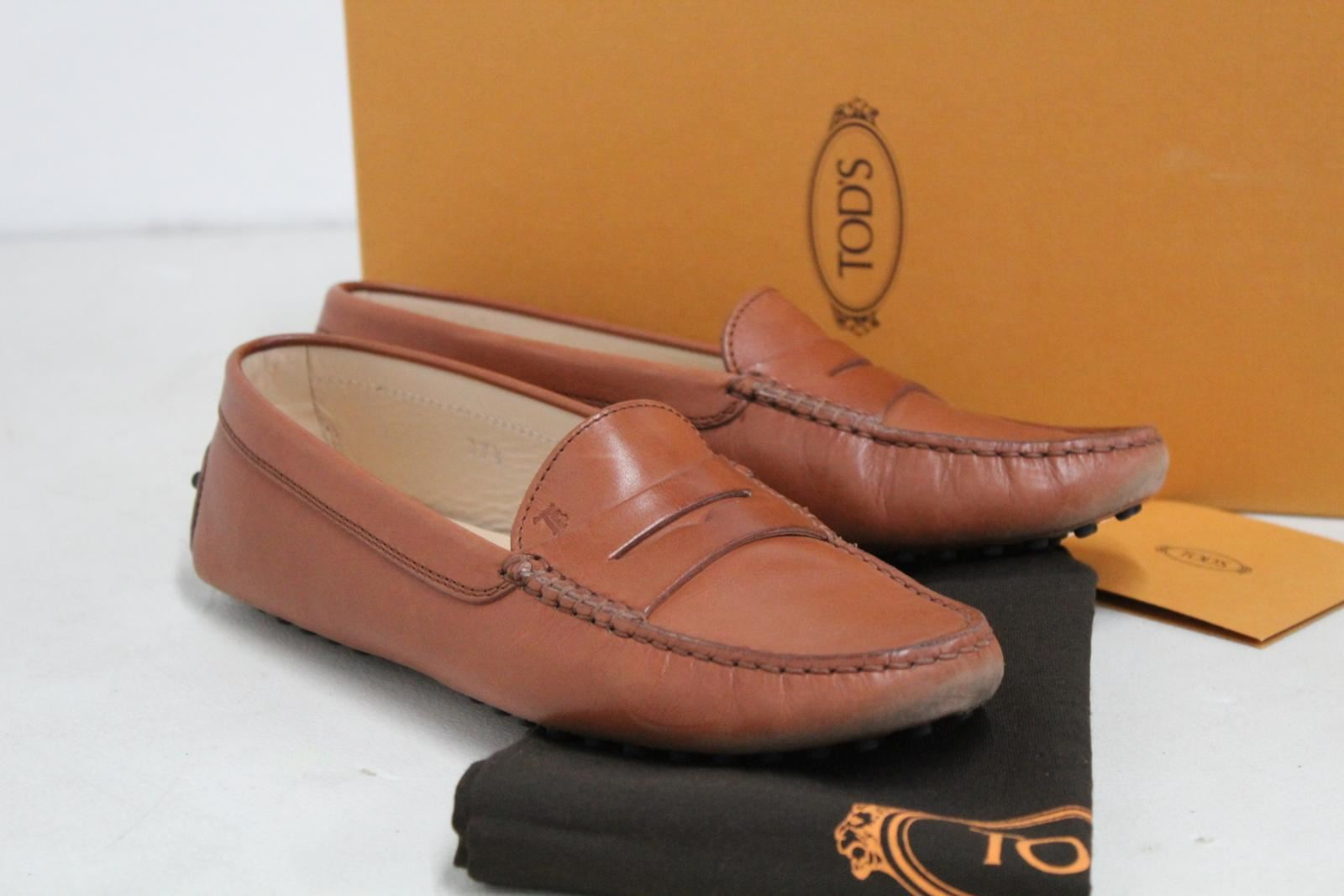 TODS-Ladies-Light-Brown-Flat-Shoes-Gommini-Mocassino-Loafers-UK-5-EU37-5