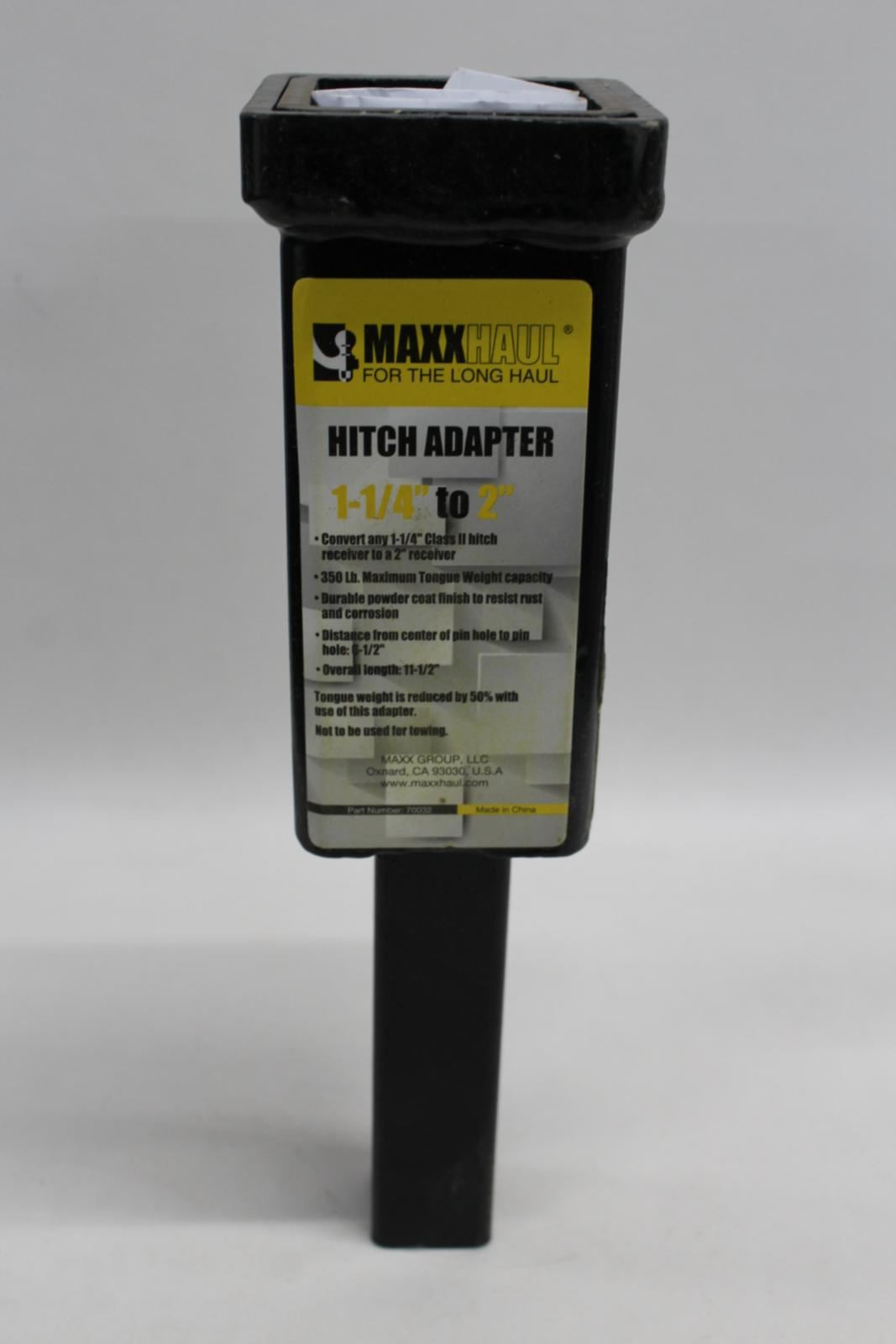 MaxxHaul 70032 1-1//4 inches to 2 inches Hitch Adaptor
