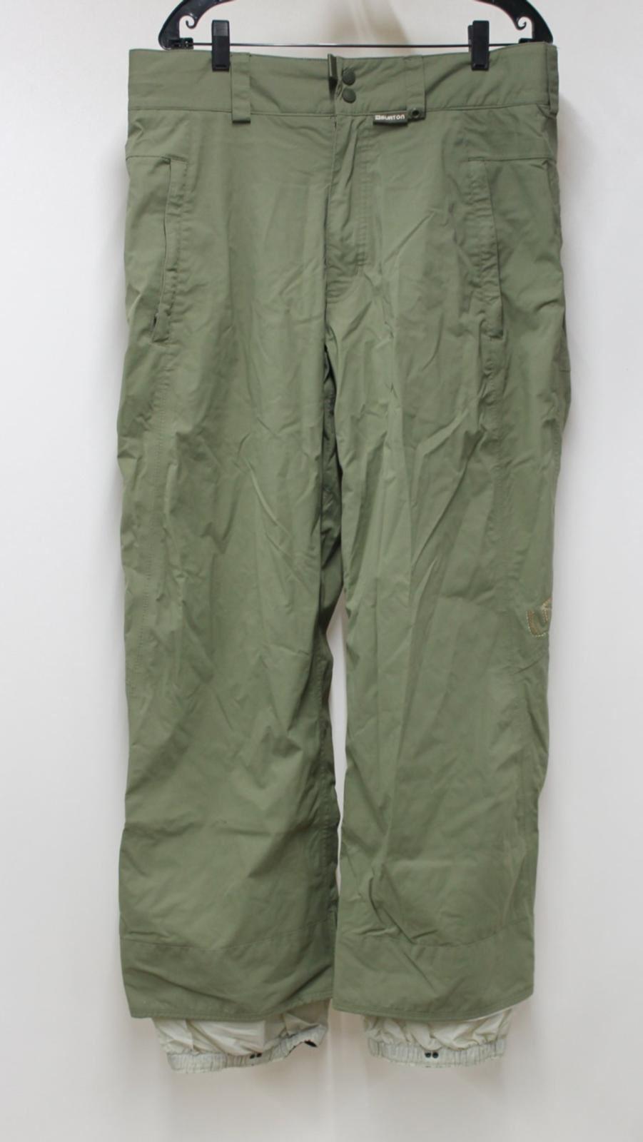 BURTON Men's Green Waterproof Layered Snowboard Skiing Trousers Size L