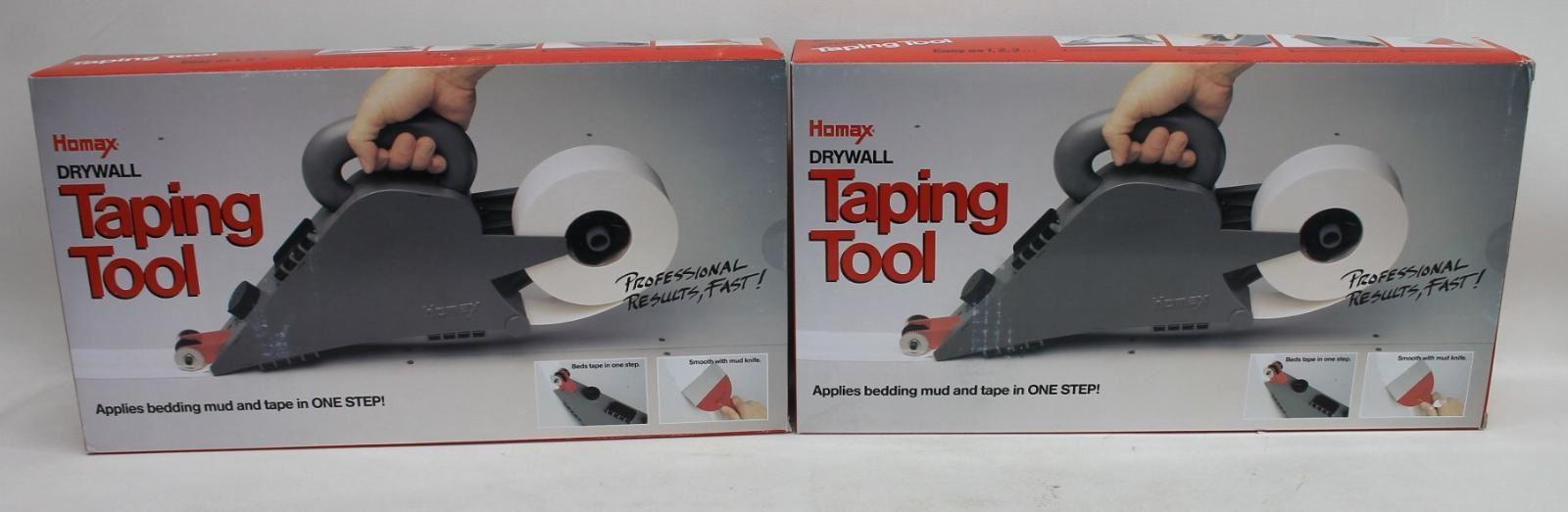 HOMAX-6500-Drywall-Banjo-Sheetrock-Tape-amp-Mud-Applicator-Taping-Tool-2x-BNIB