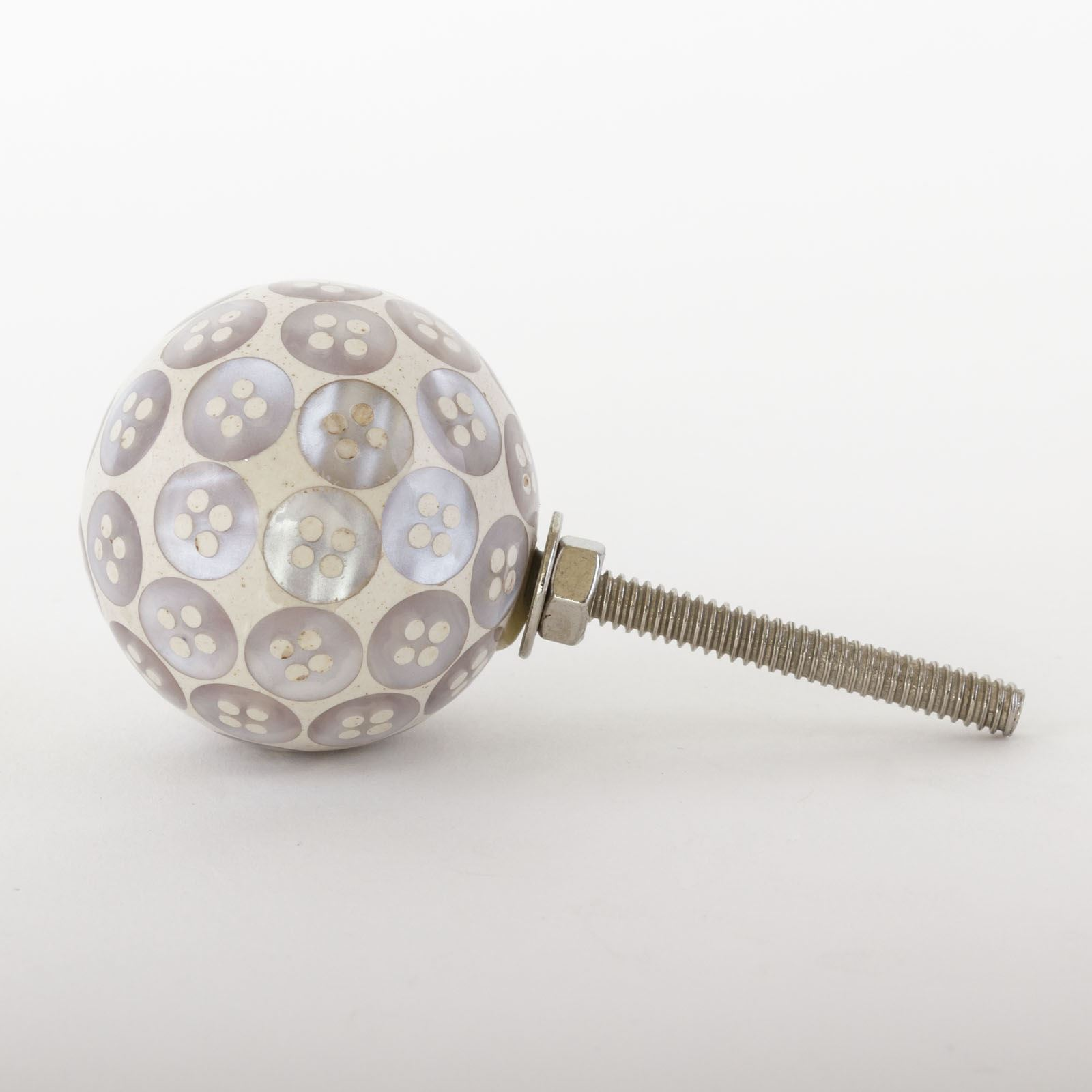 Dots-amp-Stripes-Ceramic-Door-Knobs-Handles-Furniture-Drawer-Pulls-Cupboard miniatura 45