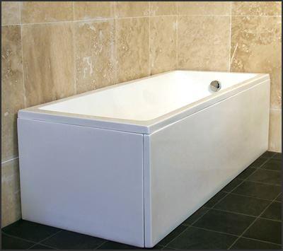 1500/1600mm Modern Bath Bathtub Bathroom Side Panel White Acrylic ...