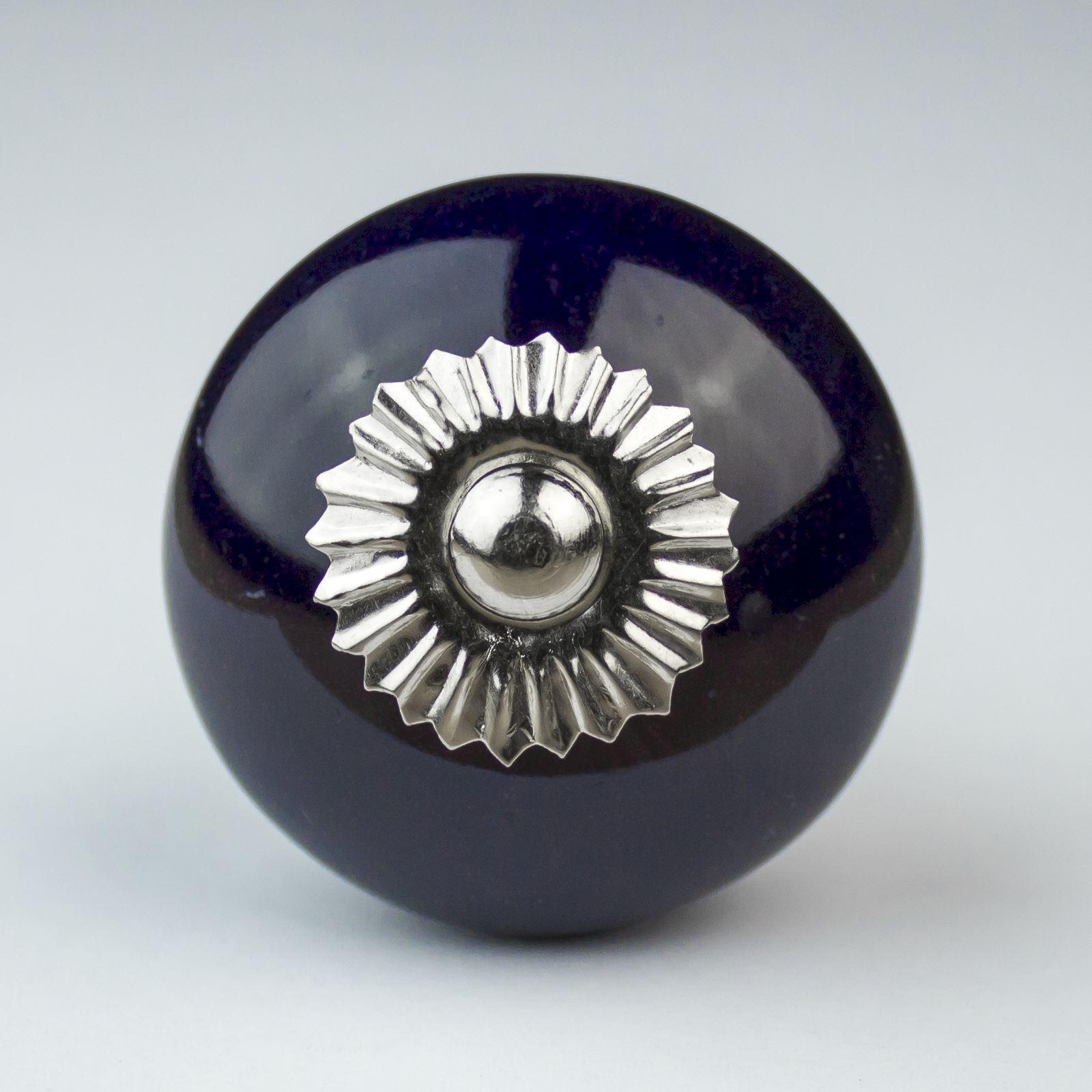blue white navy ceramic door knobs handles furniture. Black Bedroom Furniture Sets. Home Design Ideas