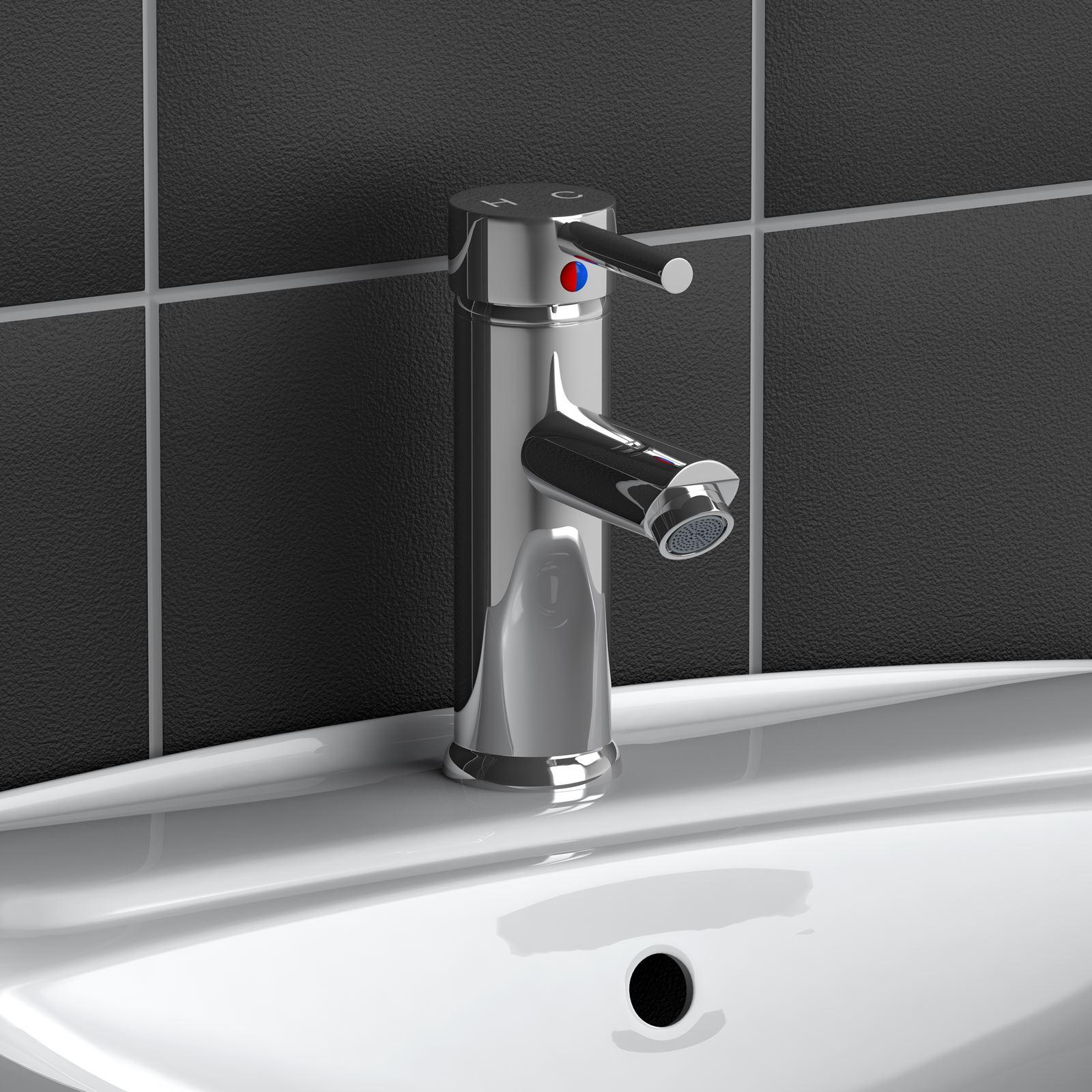 Modern Chrome Plated Brass Monobloc Sink Bathroom Filler Sink Faucet ...