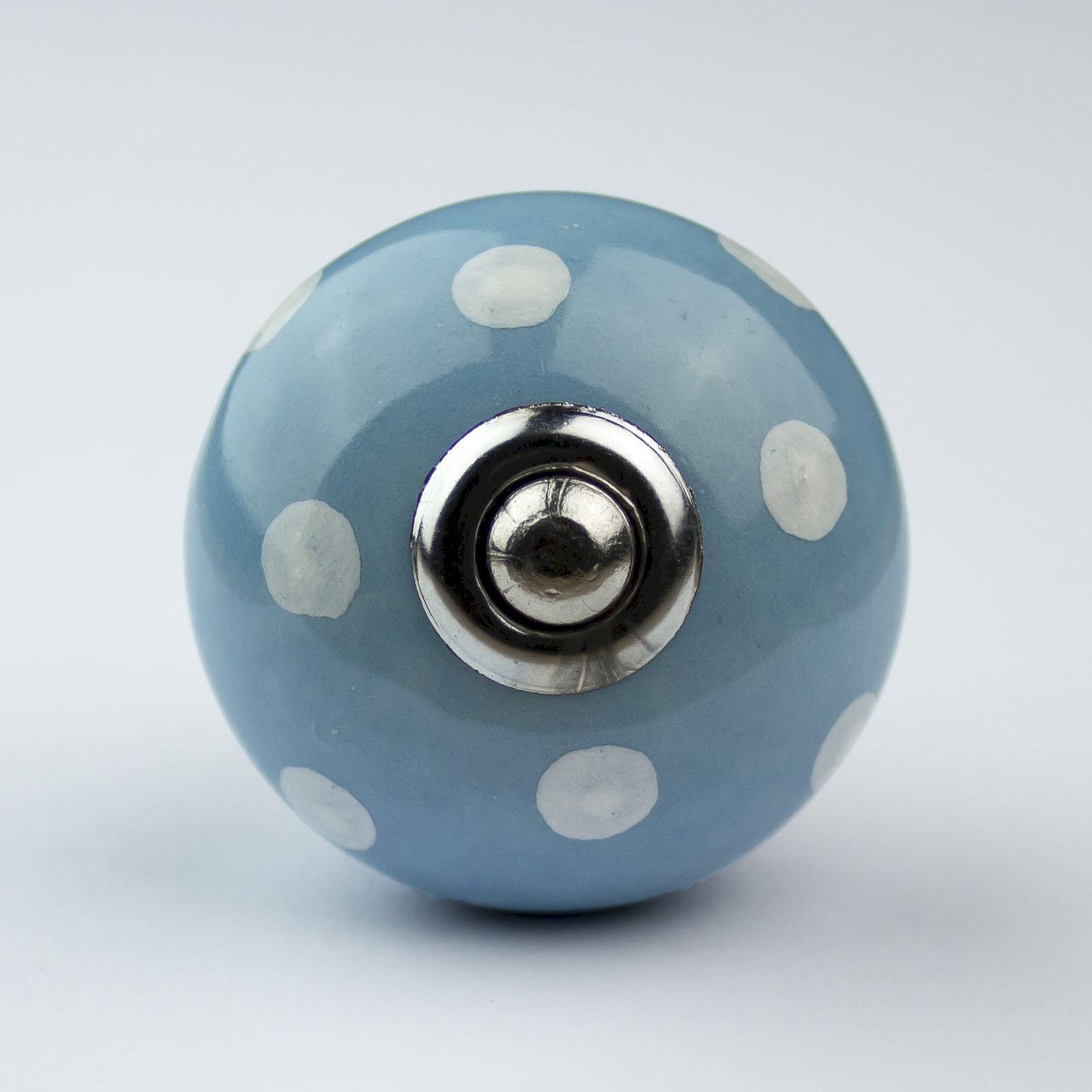 Blue White Navy Ceramic Door Knobs Handles Furniture Drawer Pulls ...