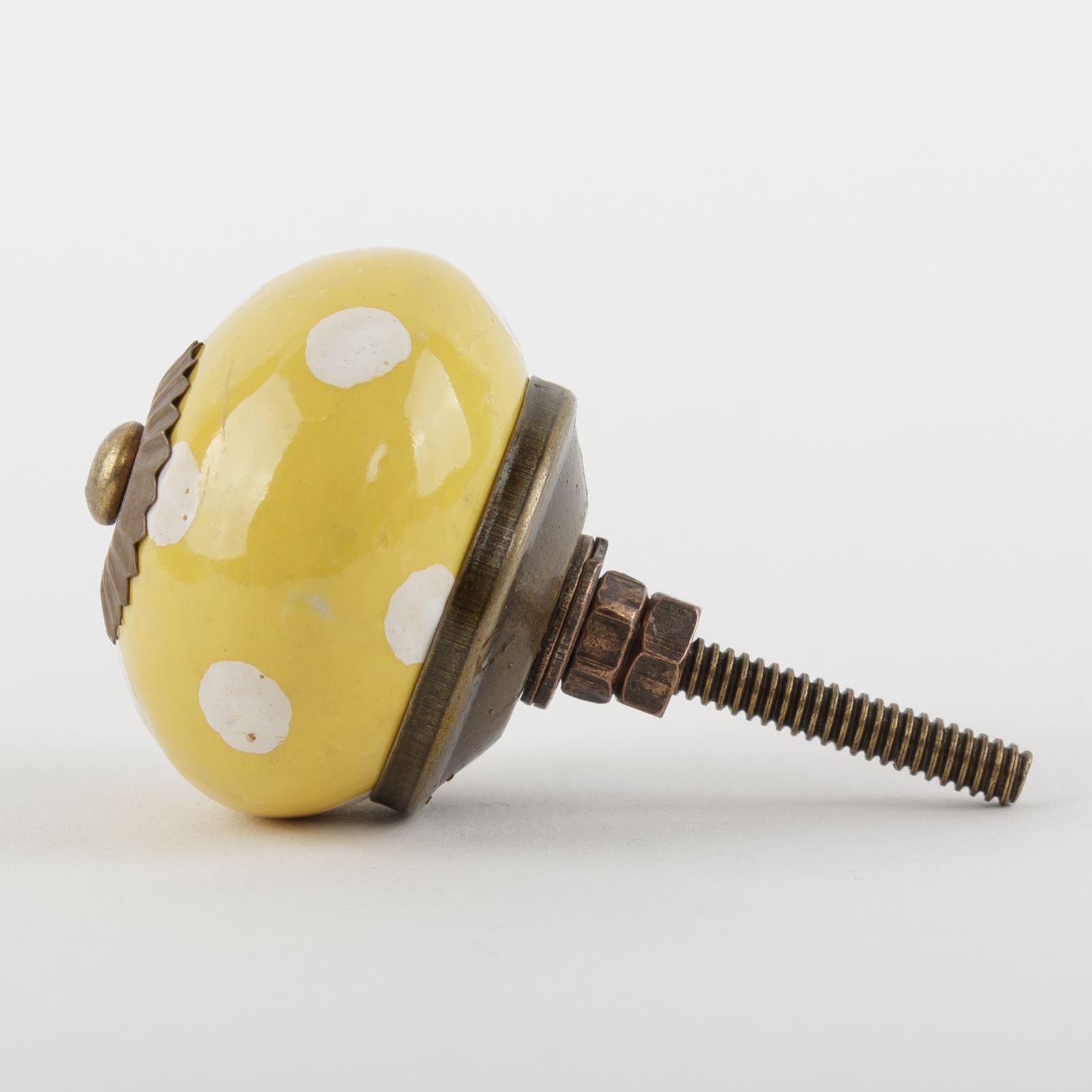 Dots-amp-Stripes-Ceramic-Door-Knobs-Handles-Furniture-Drawer-Pulls-Cupboard miniatura 59