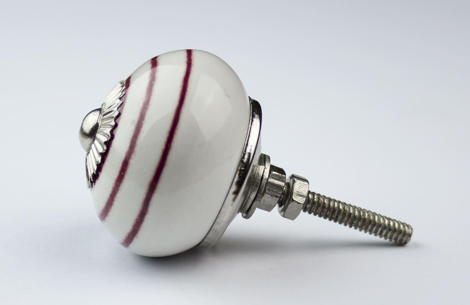 Dots-amp-Stripes-Ceramic-Door-Knobs-Handles-Furniture-Drawer-Pulls-Cupboard miniatura 51