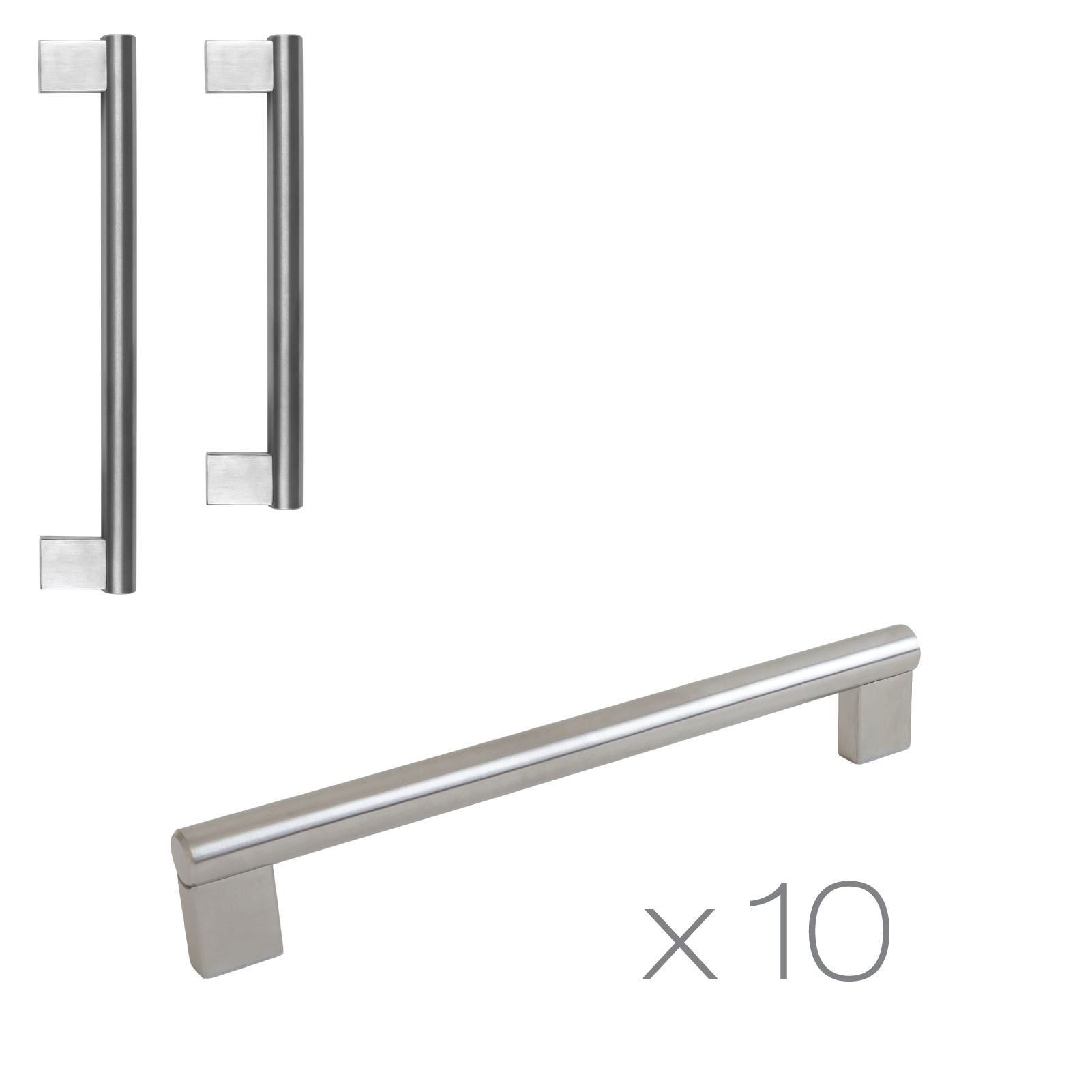Stainless Steel Kitchen Cabinet Knobs Uk: 10 Boss Bar Stainless Steel Kitchen Cupboard Cabinet