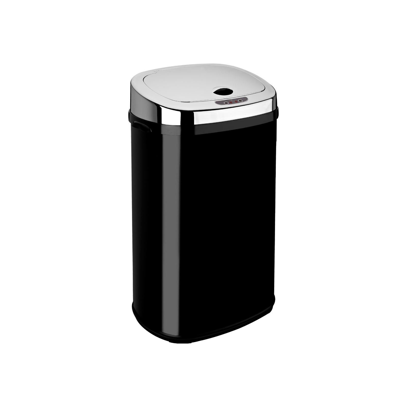 Dihl 30L 42L 50L Rectangle Black Sensor Kitchen Waste Dust Bin ...