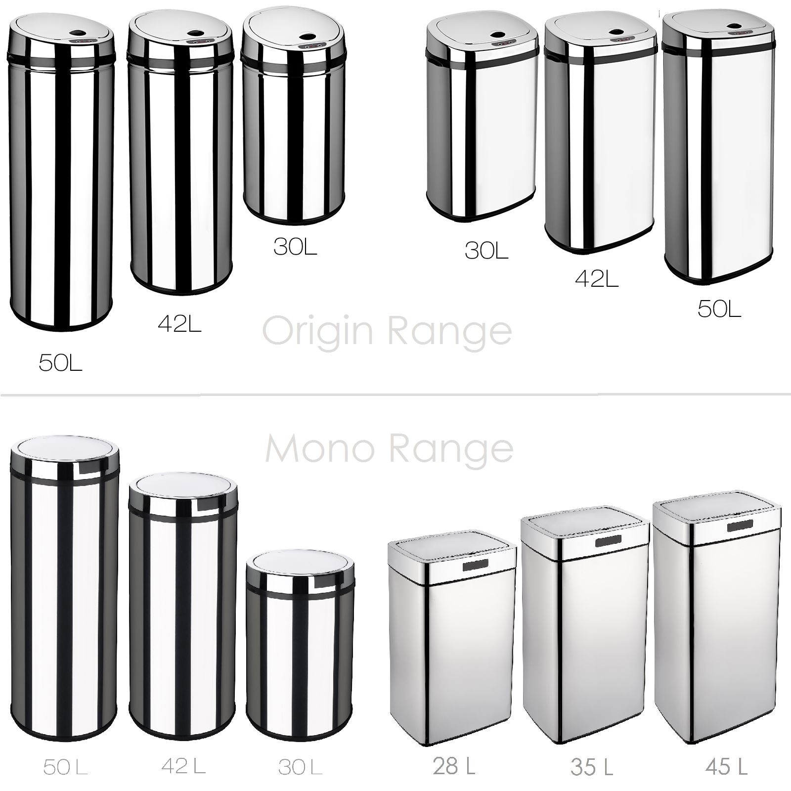 dihl rectangle round automatic kitchen waste sensor bins all colours sizes ebay. Black Bedroom Furniture Sets. Home Design Ideas