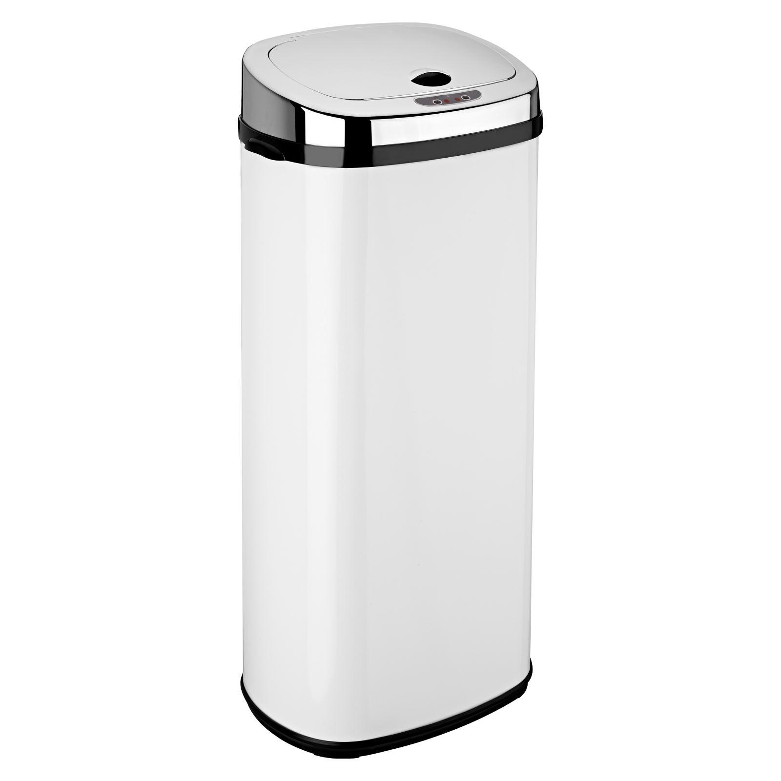 Delightful White Kitchen Bin Part - 7: Dihl-30L-42L-50L-Origin-Rectangle-White-Sensor-